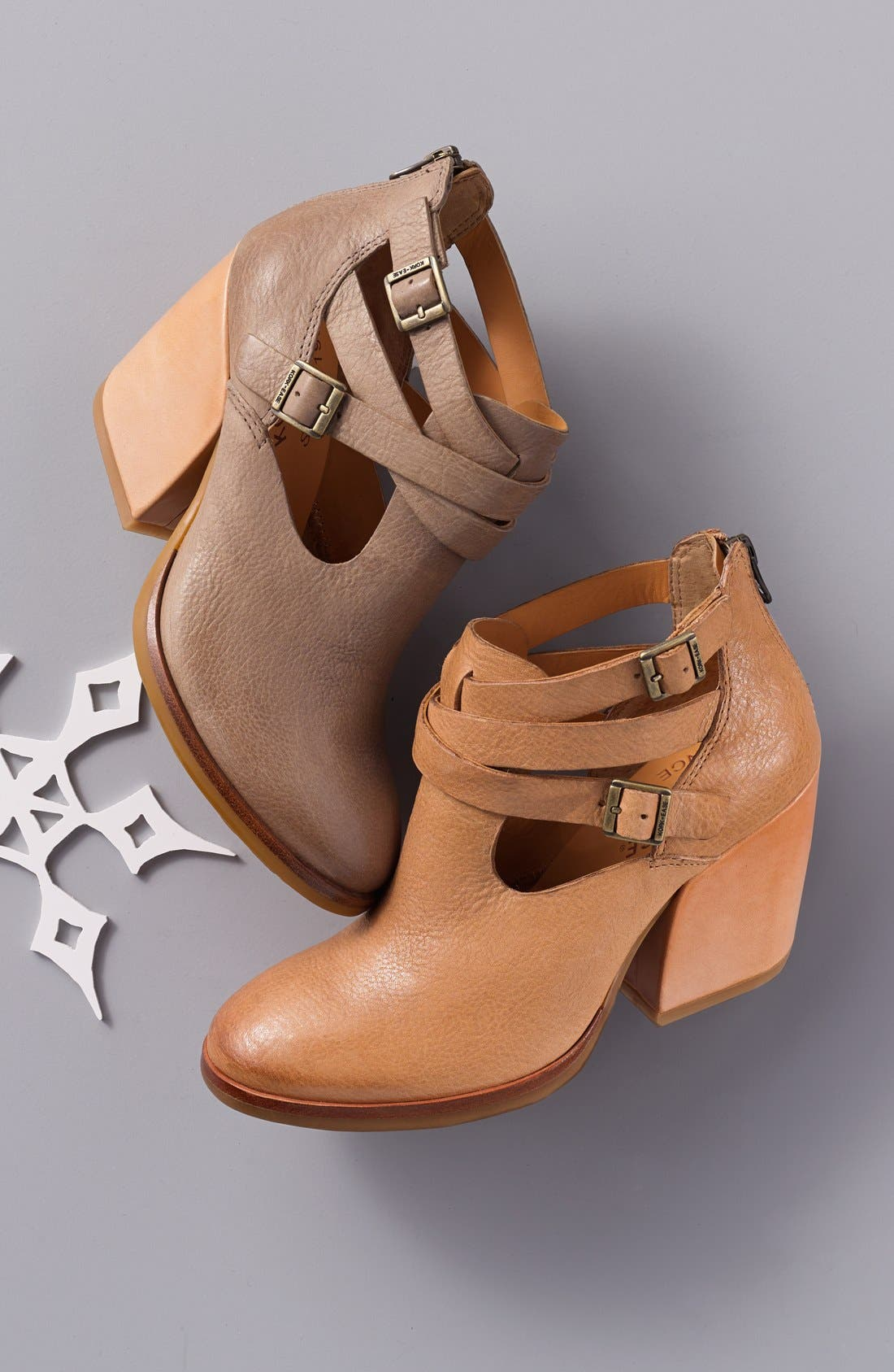 'Stina' Leather Bootie,                             Alternate thumbnail 5, color,                             001