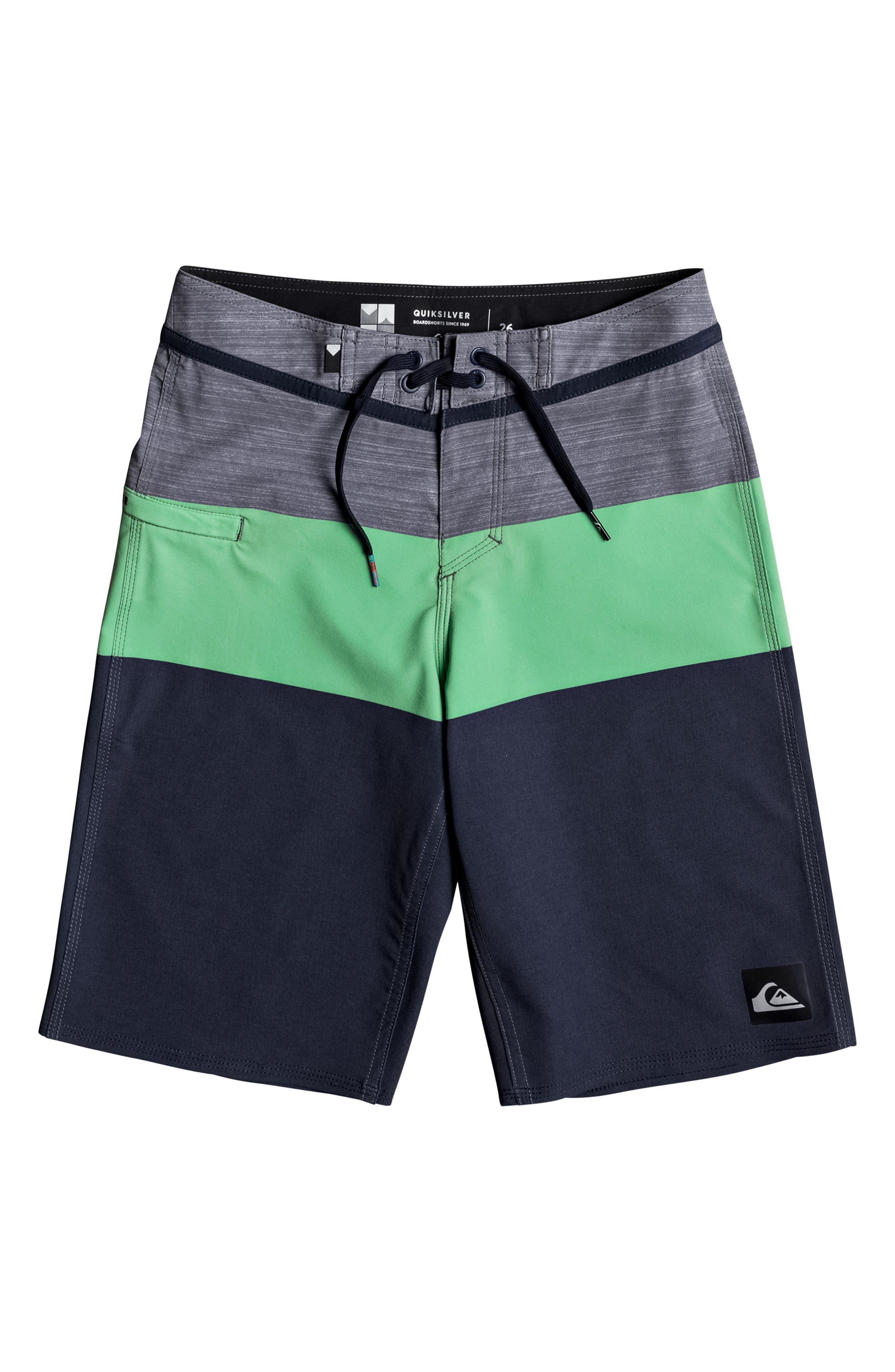 Everyday Blocked Vee Board Shorts,                         Main,                         color, 328