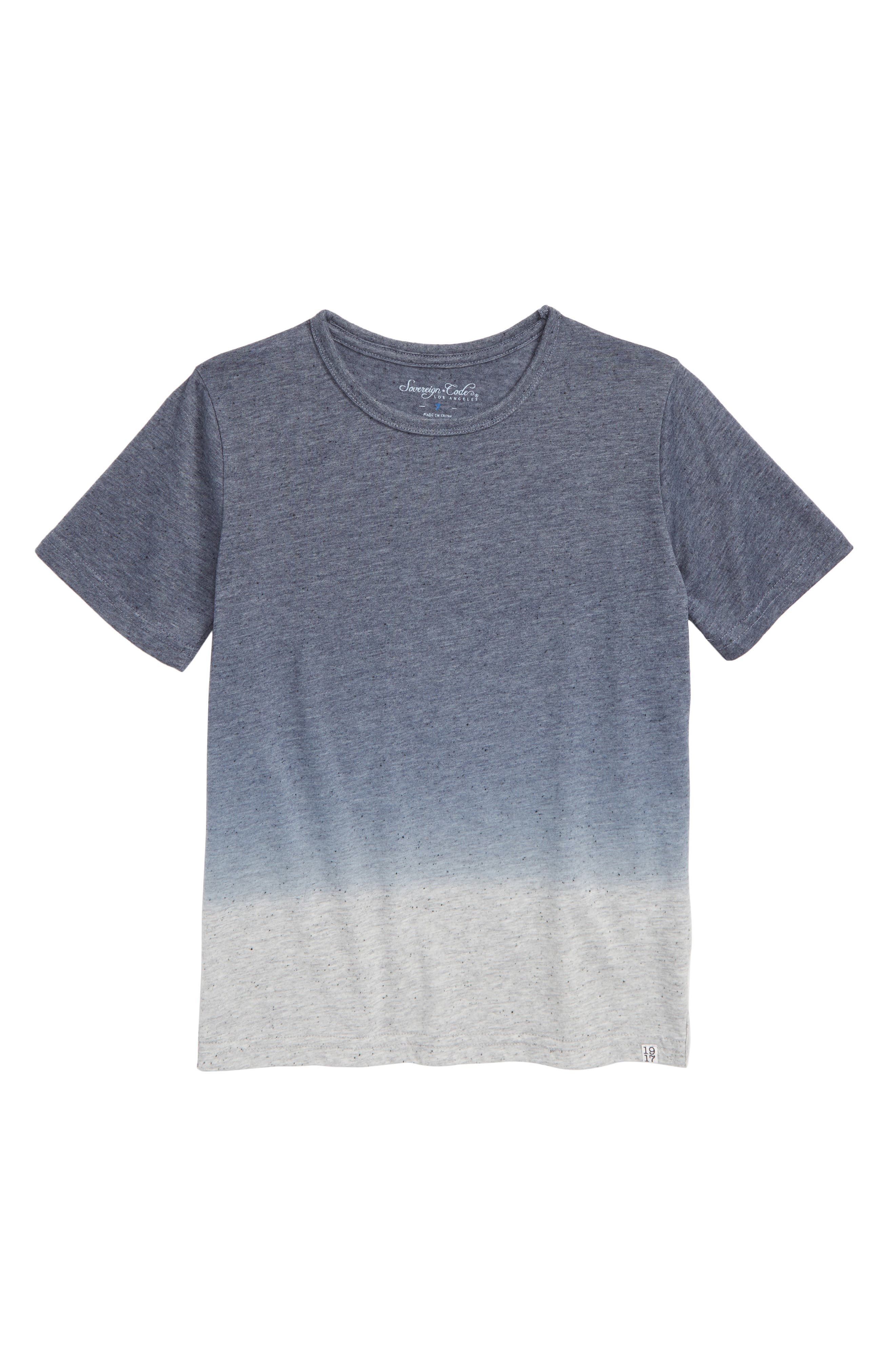 Allister T-Shirt,                         Main,                         color, NAVY HEATHER GREY