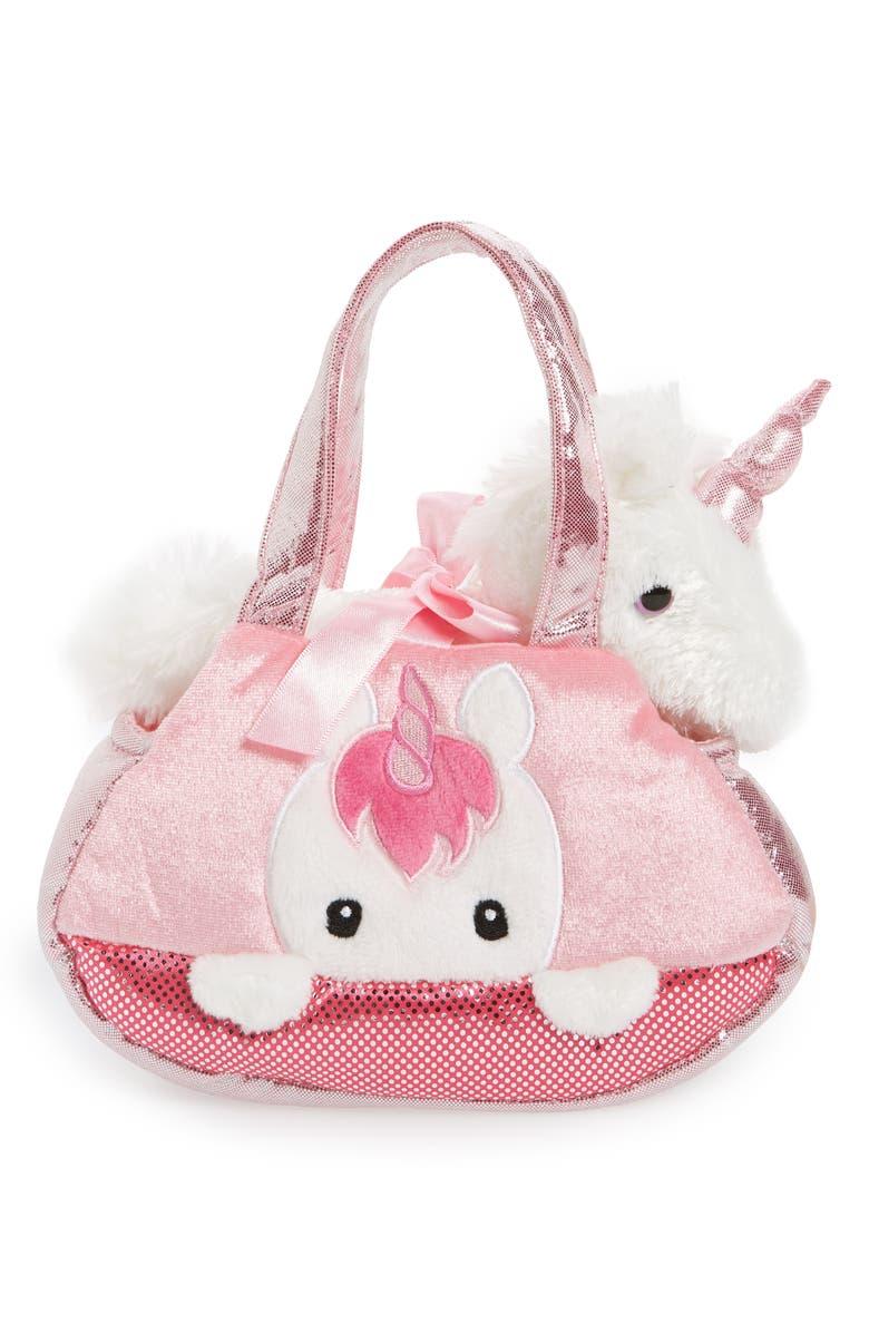 3d2655e889e8 Aurora World Toys Fancy Pals Unicorn Stuffed Animal   Pet Carrier ...
