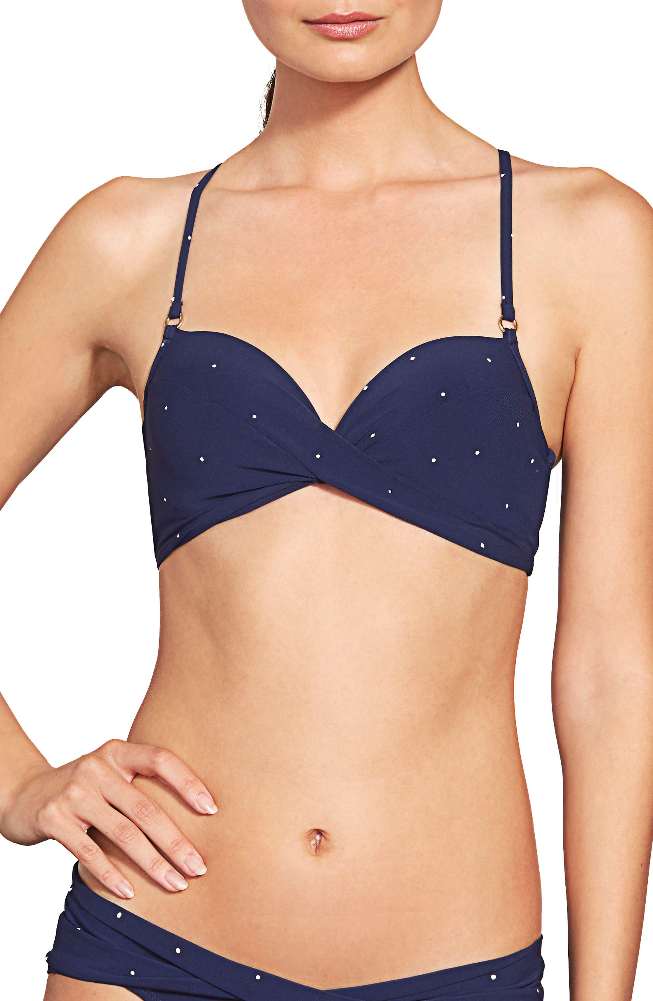 Robin Piccone Jennie Twist Bikini Top, Blue