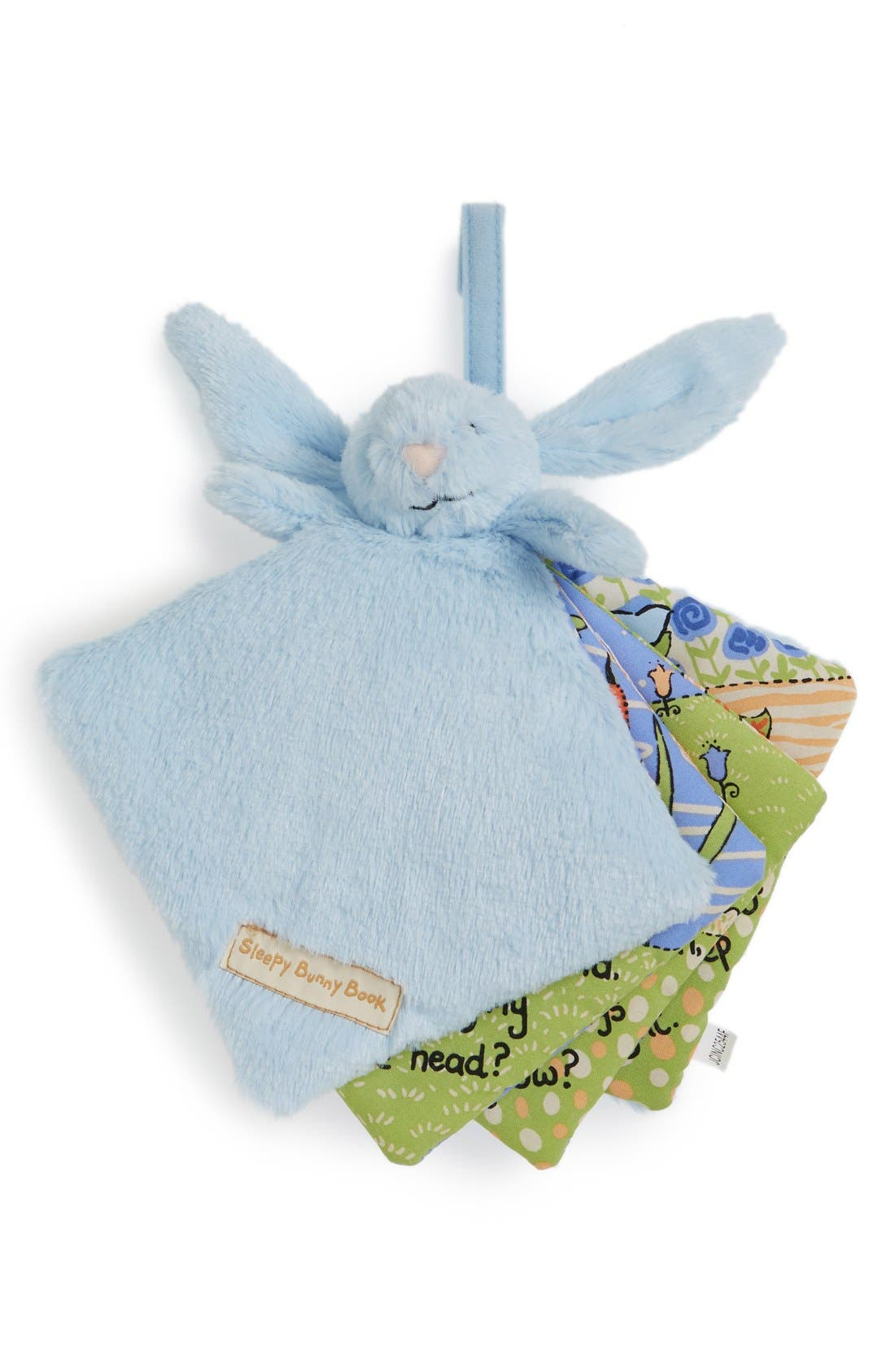 'Sleepy Bunny' Soft Fabric Book,                             Main thumbnail 1, color,                             BLUE
