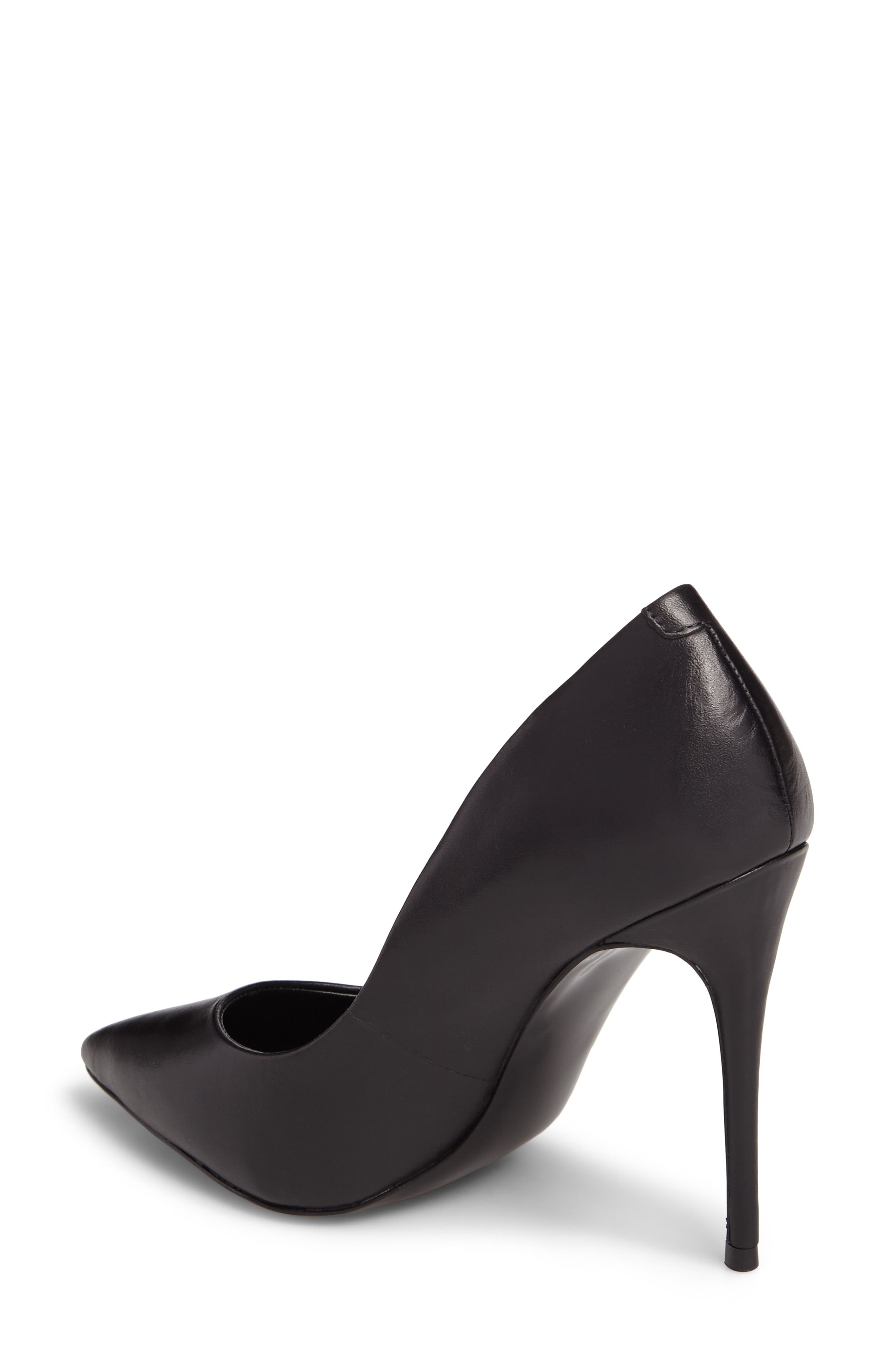 Daisie Pointy-Toe Pump,                             Alternate thumbnail 2, color,                             BLACK LEATHER