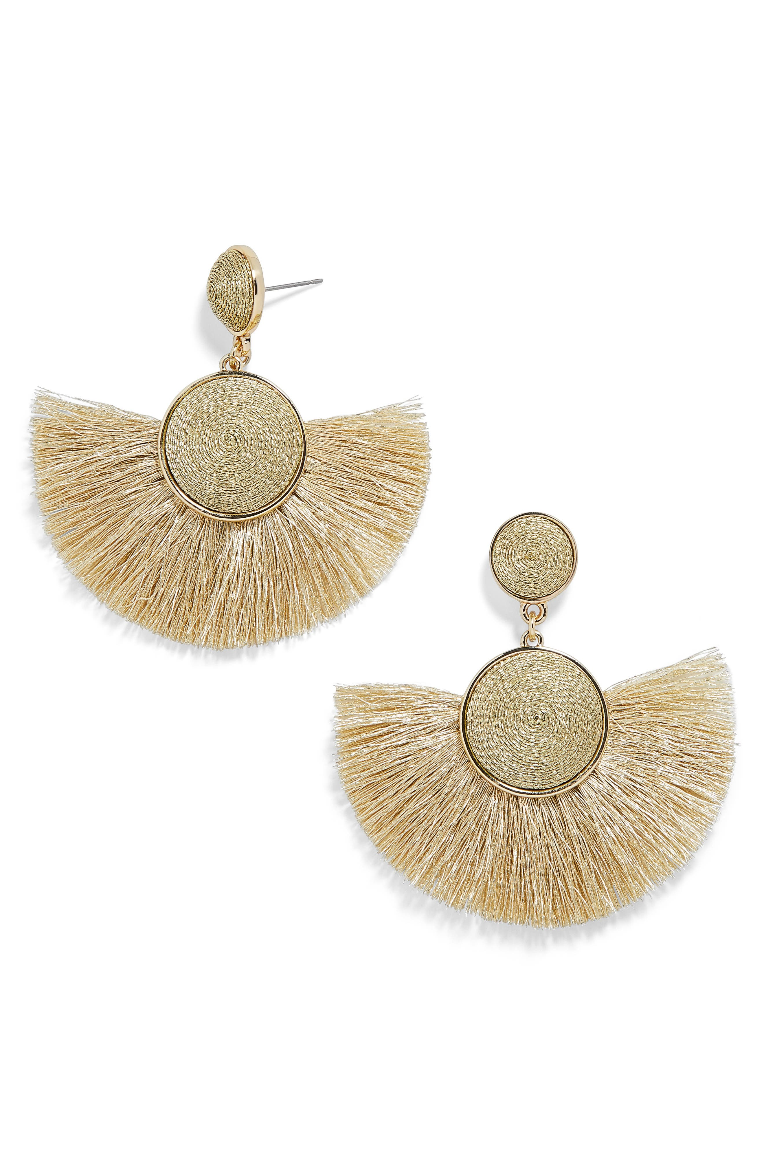 60s -70s Jewelry – Necklaces, Earrings, Rings, Bracelets Womens Baublebar Marinella Fringe Drop Earrings $38.00 AT vintagedancer.com