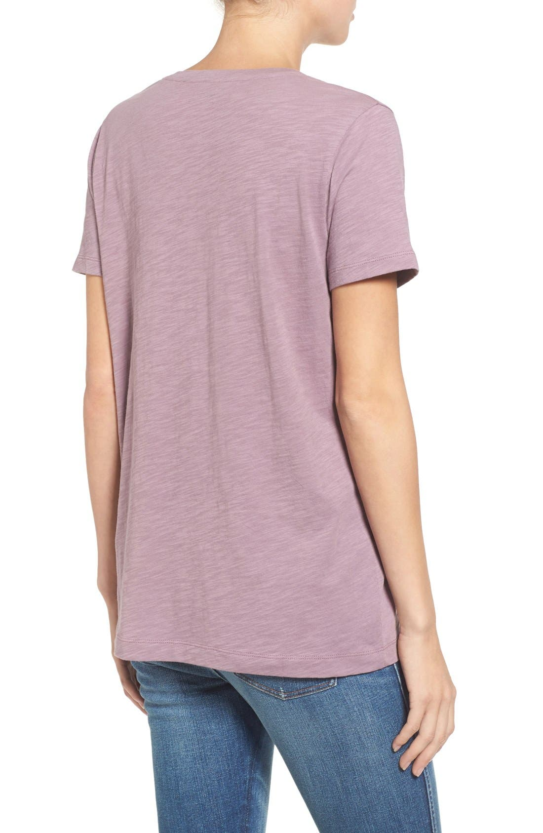 Whisper Cotton V-Neck Pocket Tee,                             Alternate thumbnail 70, color,
