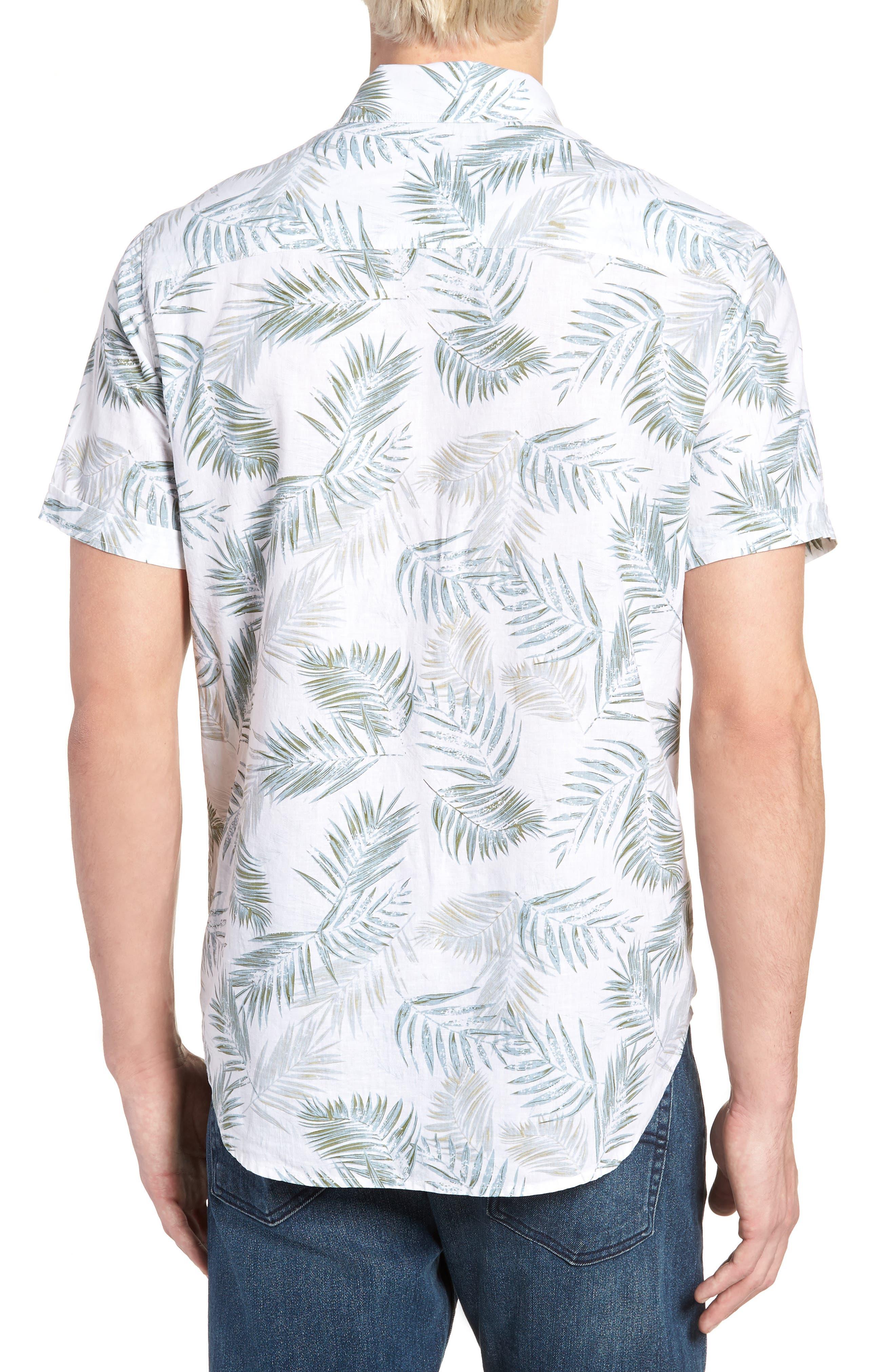 Carson Slim Fit Fern Print Sport Shirt,                             Alternate thumbnail 2, color,                             900