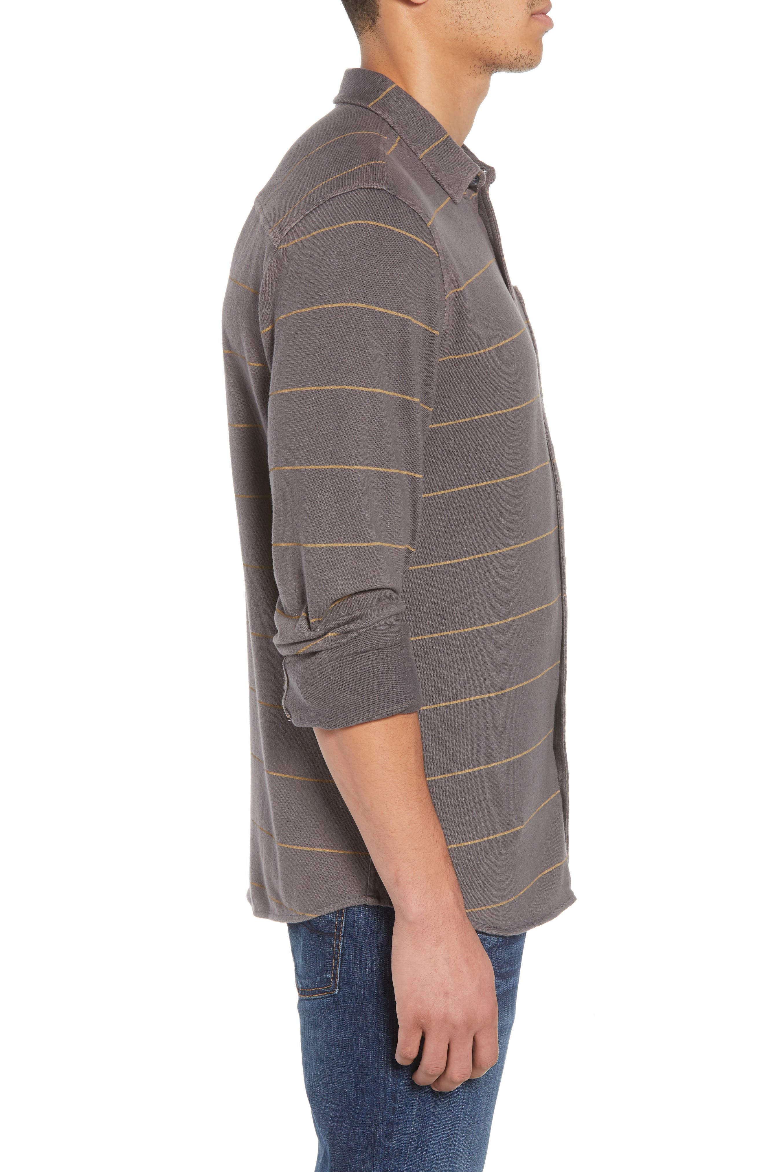 Cowell Knit Button-Up Shirt,                             Alternate thumbnail 4, color,                             020