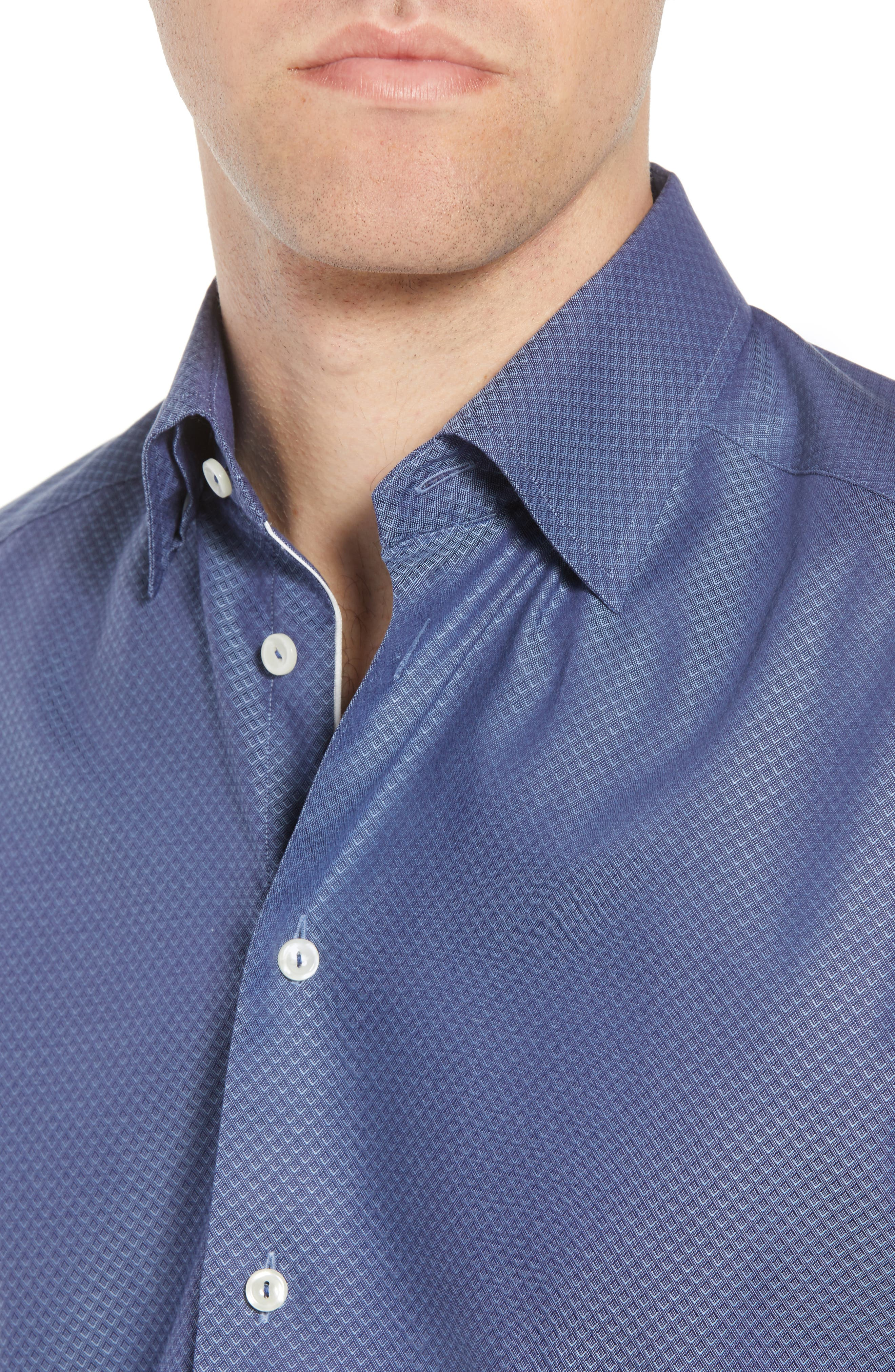 Slim Fit Diamond Print Dress Shirt,                             Alternate thumbnail 2, color,                             400