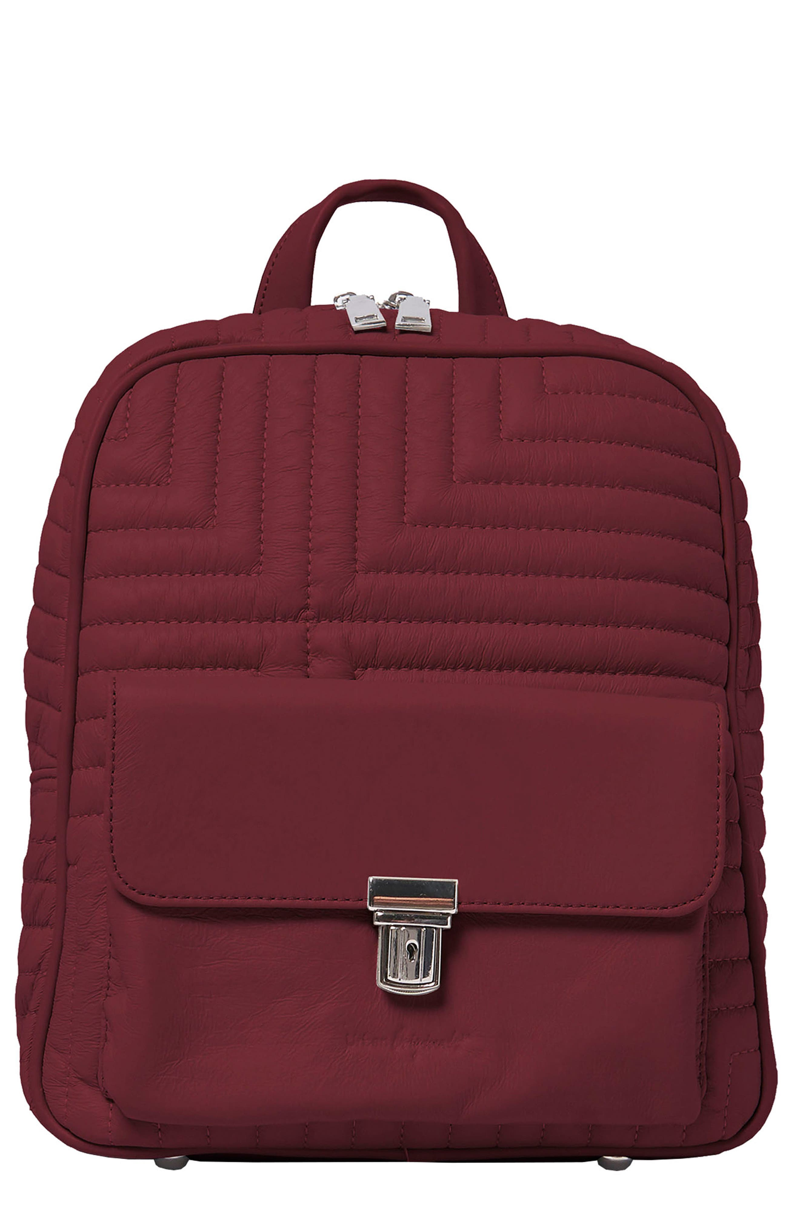 Essential Vegan Leather Backpack in Plum