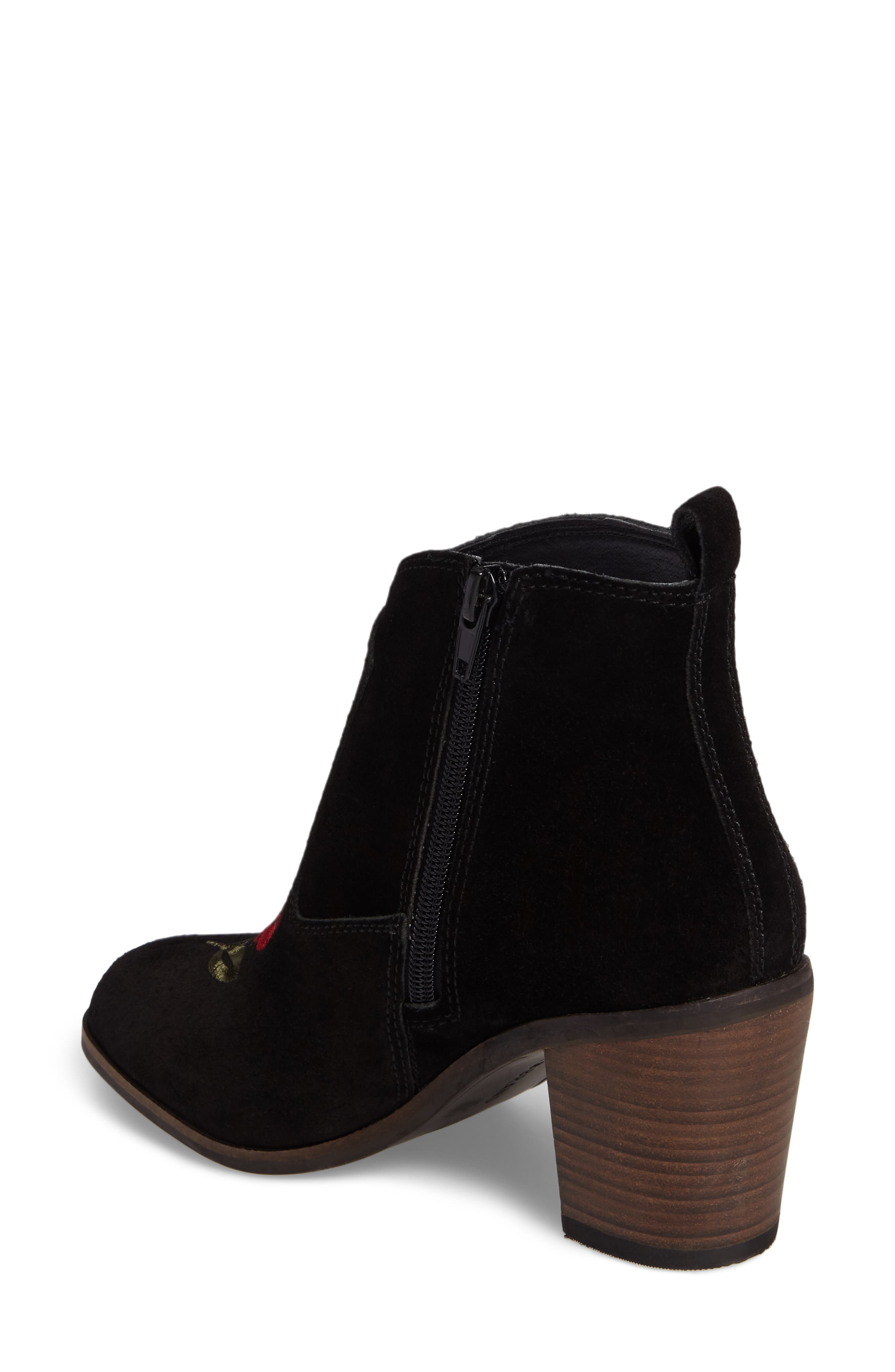 Pexton Embroidered Bootie,                             Alternate thumbnail 2, color,                             002