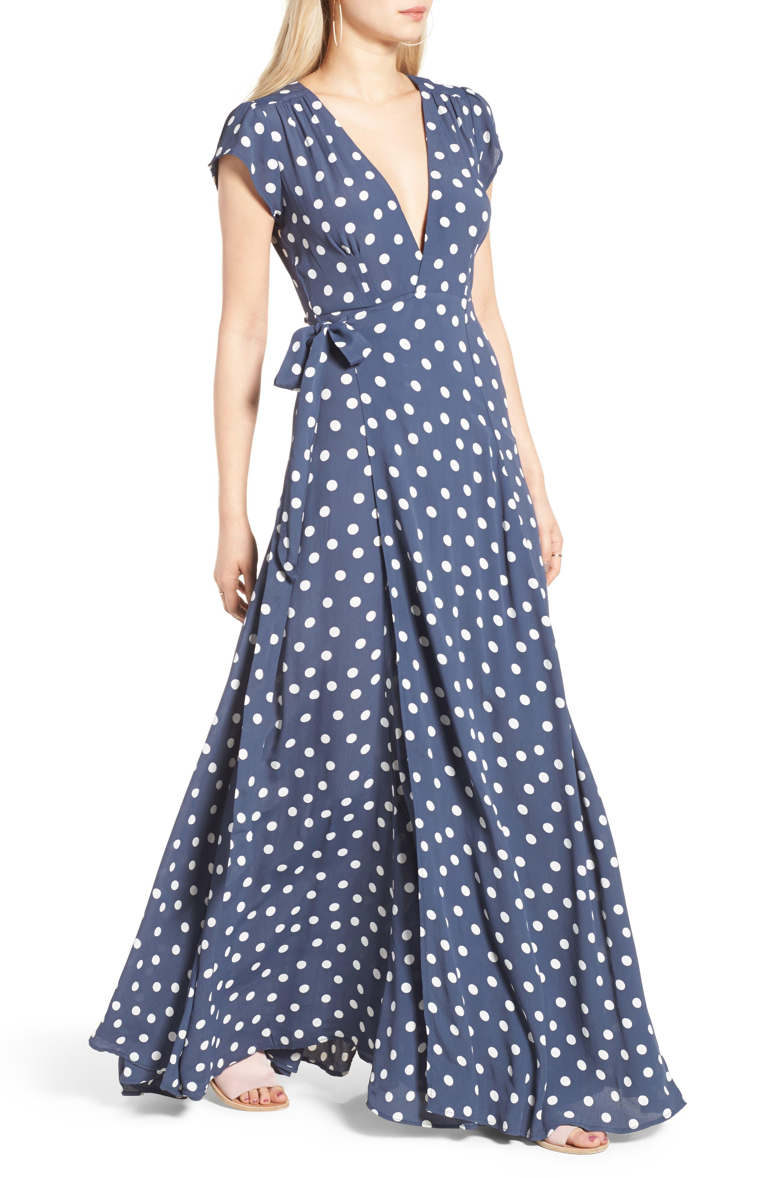 Sid Wrap Maxi Dress,                             Alternate thumbnail 4, color,                             401