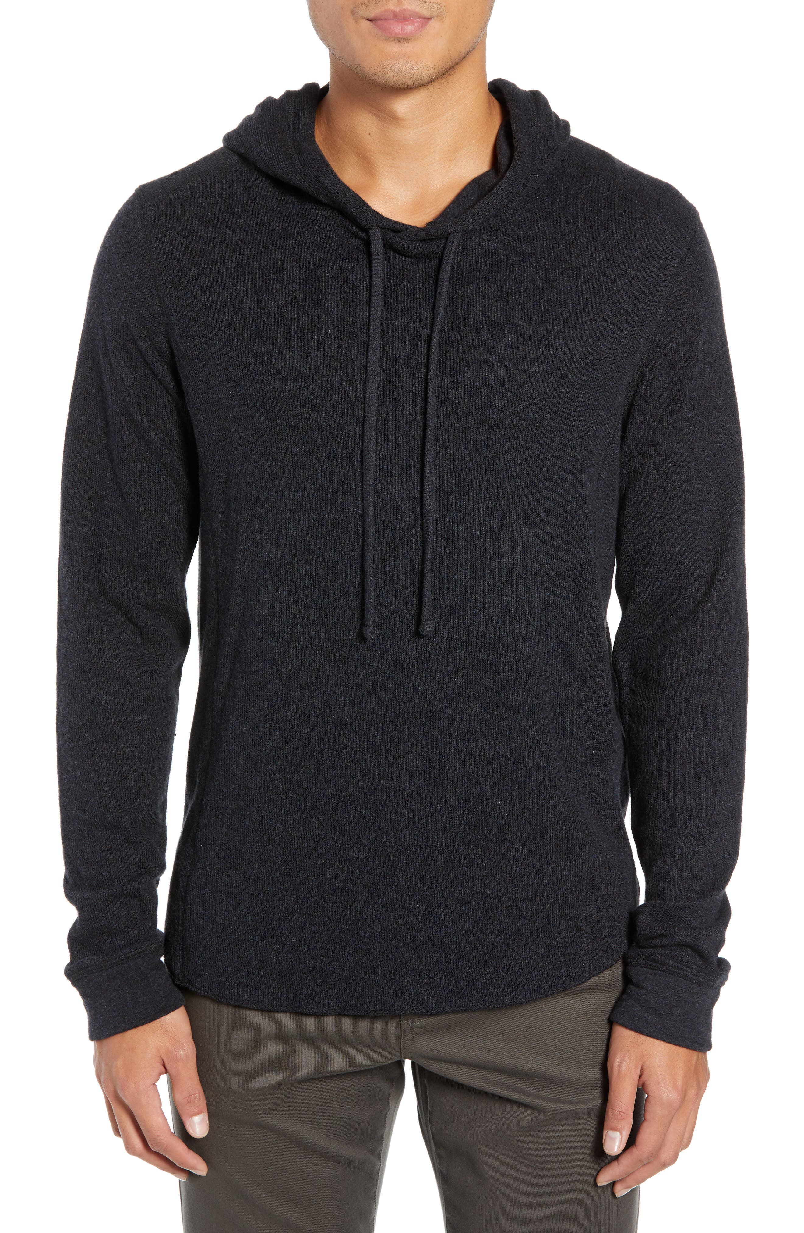 Double Knit Hoodie,                         Main,                         color, H MANHATTAN NAVY