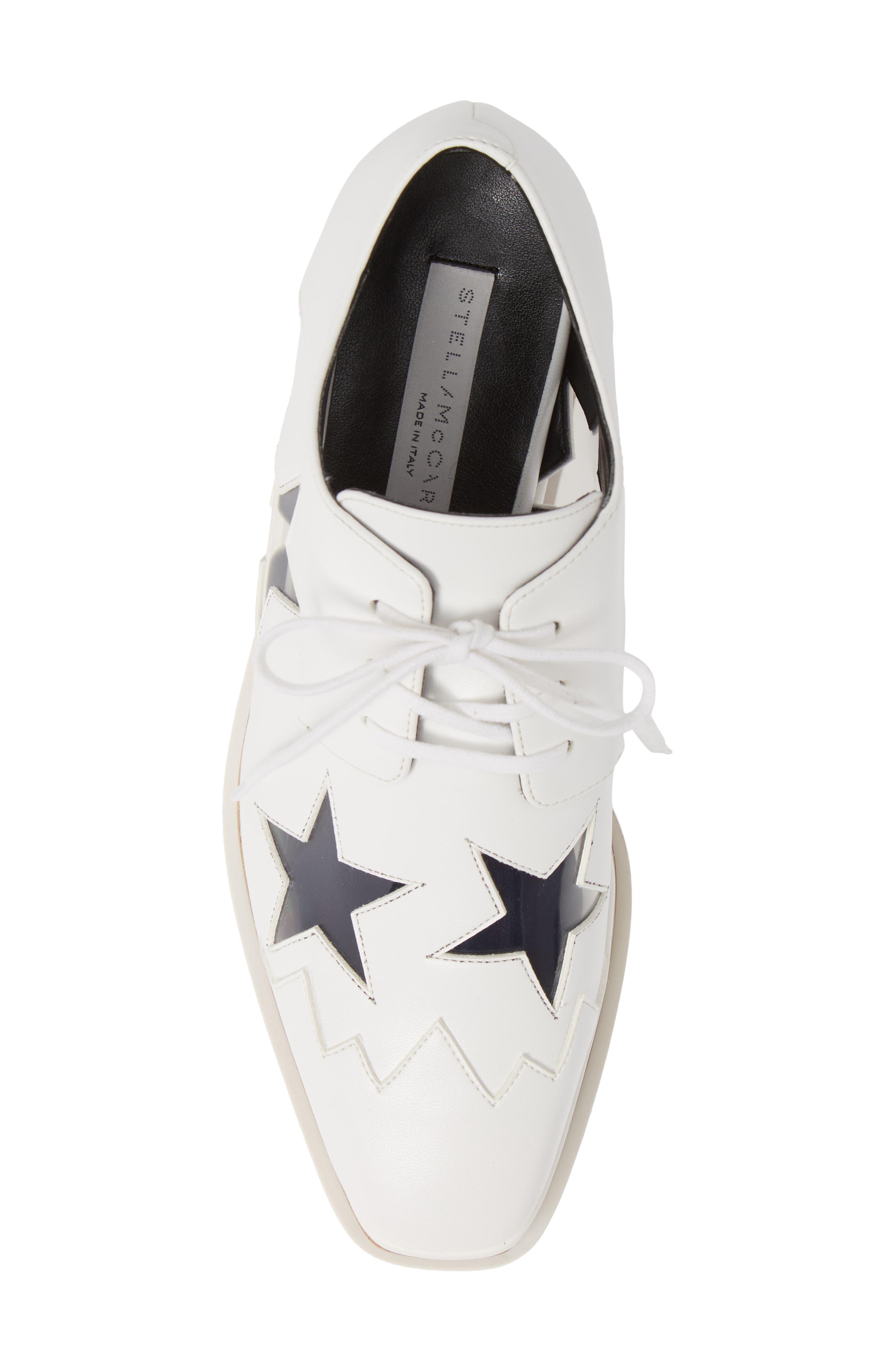 Elyse Clear Star Platform Oxford,                             Alternate thumbnail 5, color,                             WHITE