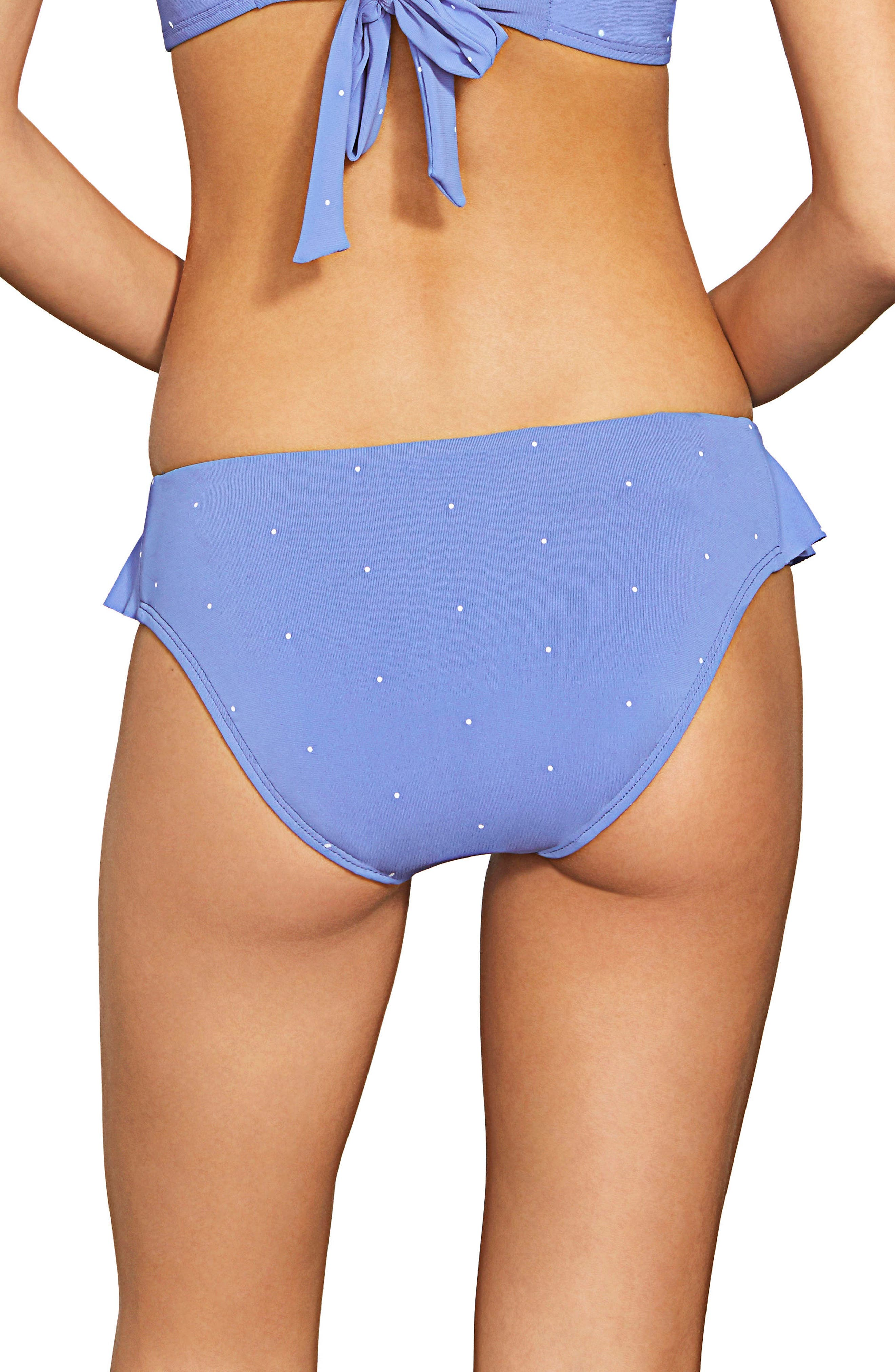 Jennie Ruffle Bikini Bottoms,                             Alternate thumbnail 2, color,                             PERIWINKLE