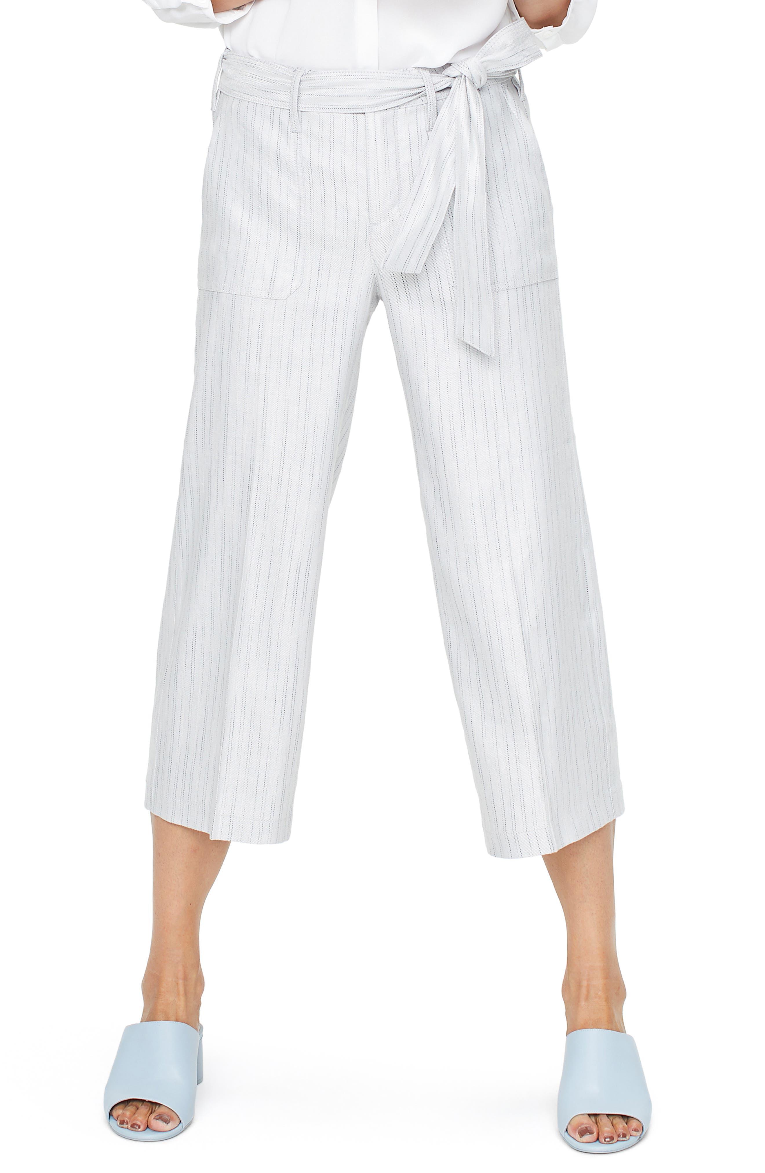 Cargo Capri Pants, Main, color, STONE STRIPE
