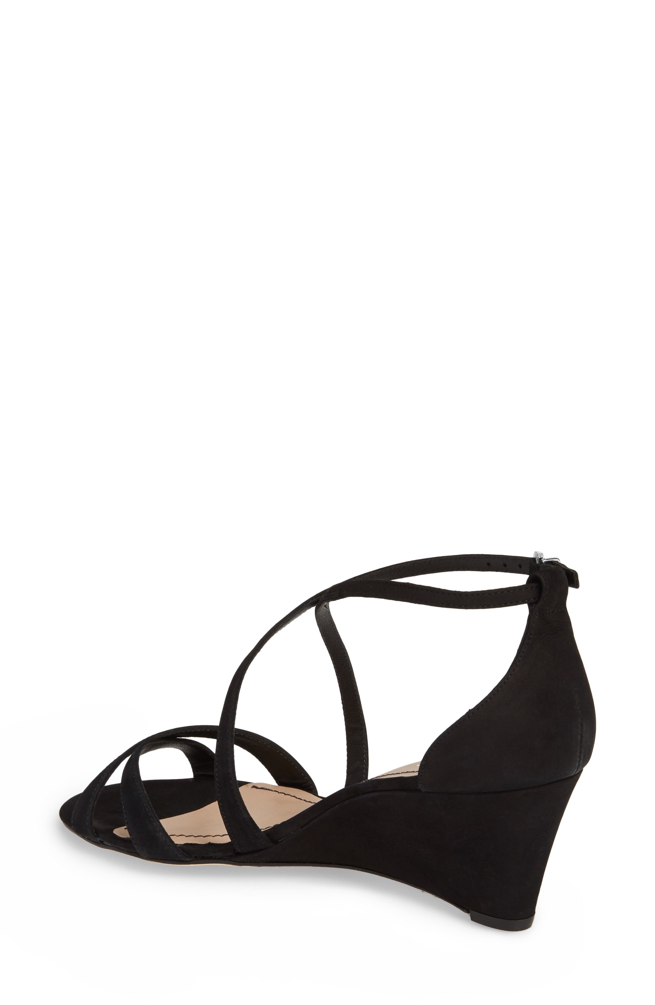KLUB NICO,                             Kaissa Sandal,                             Alternate thumbnail 2, color,                             BLACK NUBUCK LEATHER