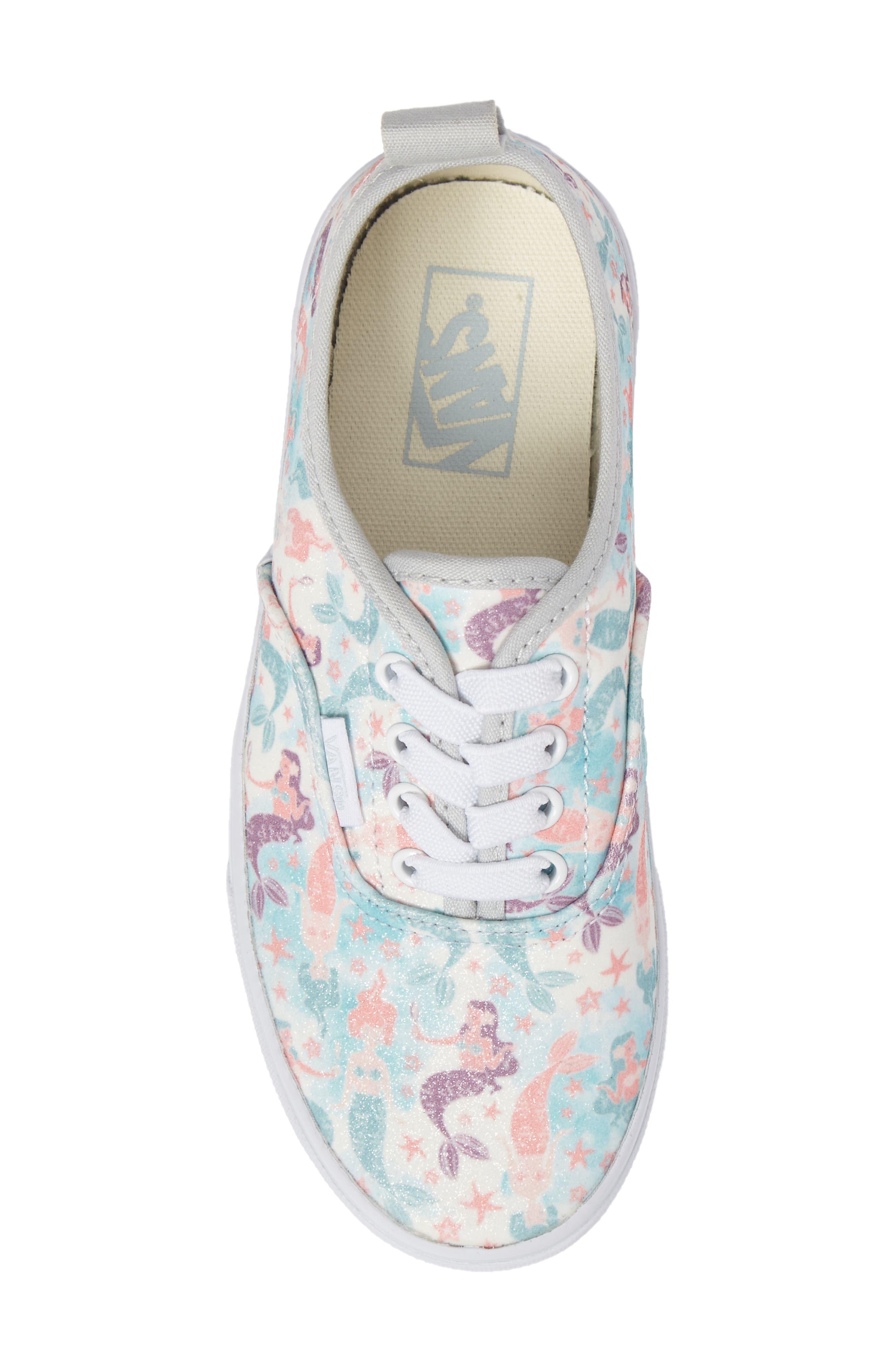 Authentic Elastic Lace Sneaker,                             Alternate thumbnail 5, color,                             300
