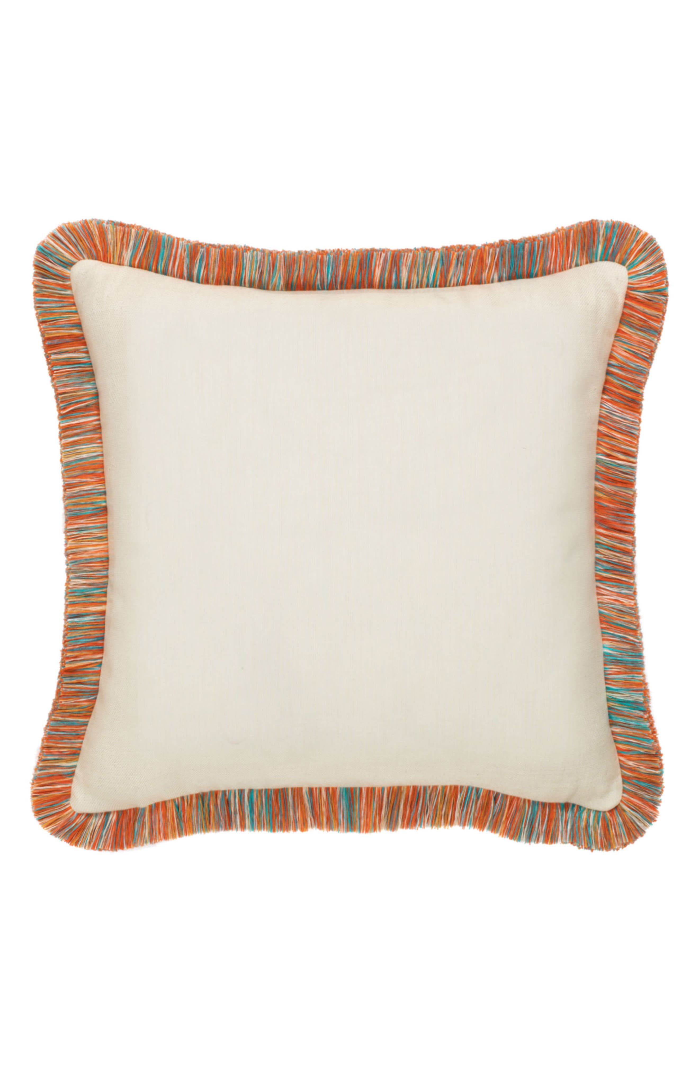 Mariposa Lagoon Indoor/Outdoor Accent Pillow,                             Alternate thumbnail 2, color,                             ORANGE/ IVORY