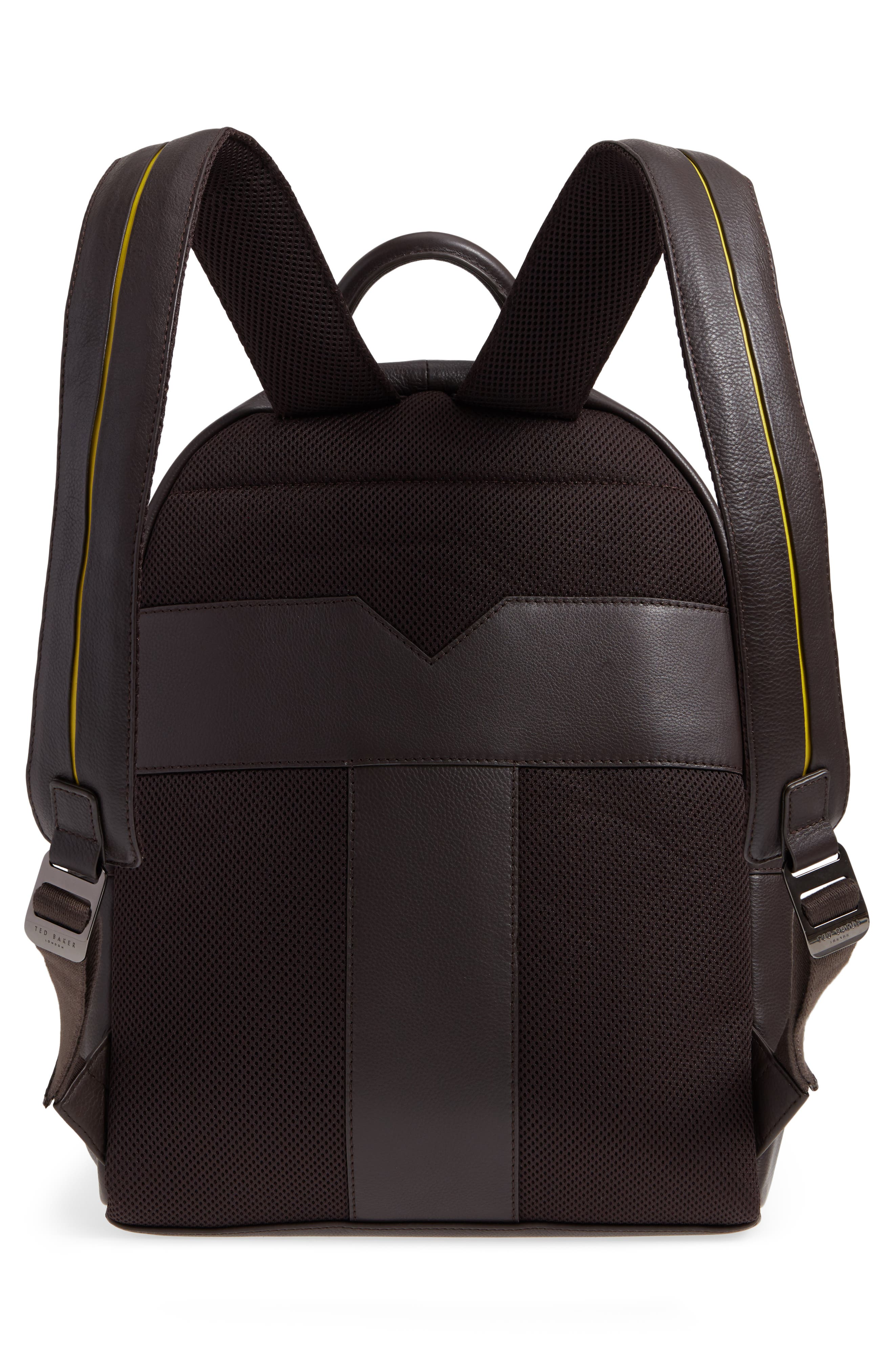 Huntman Stripe Backpack,                             Alternate thumbnail 3, color,                             CHOCOLATE