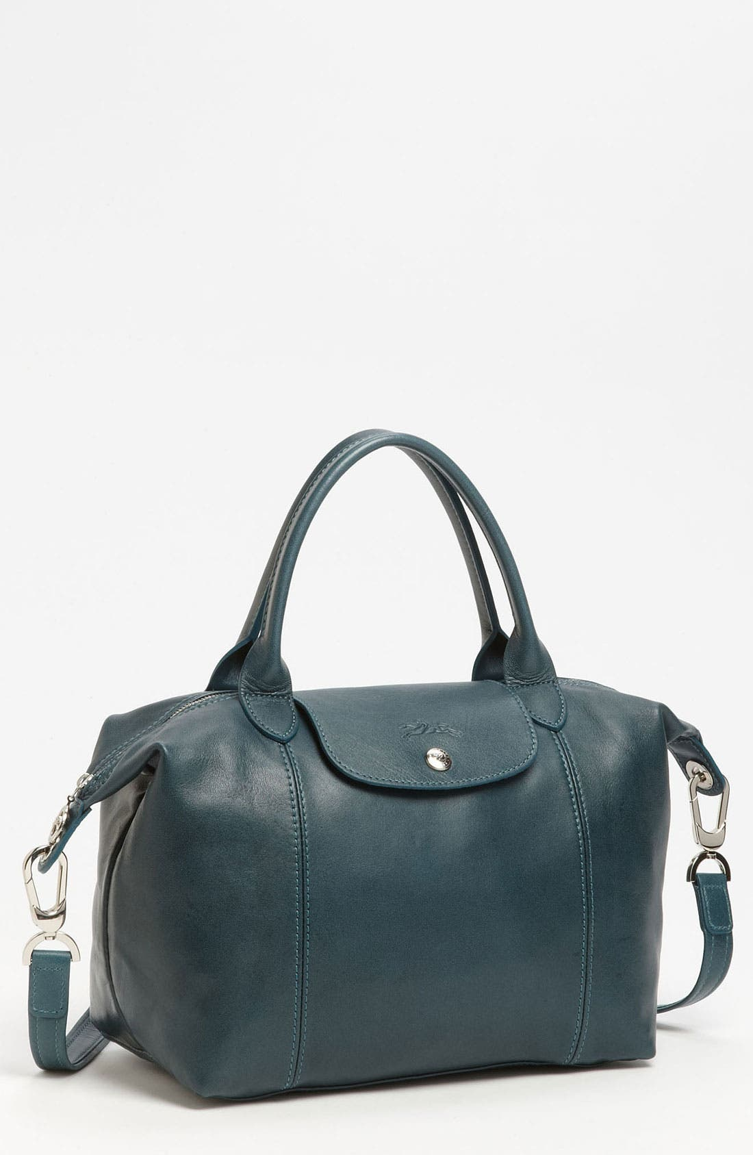 Small 'Le Pliage Cuir' Leather Top Handle Tote,                             Main thumbnail 13, color,
