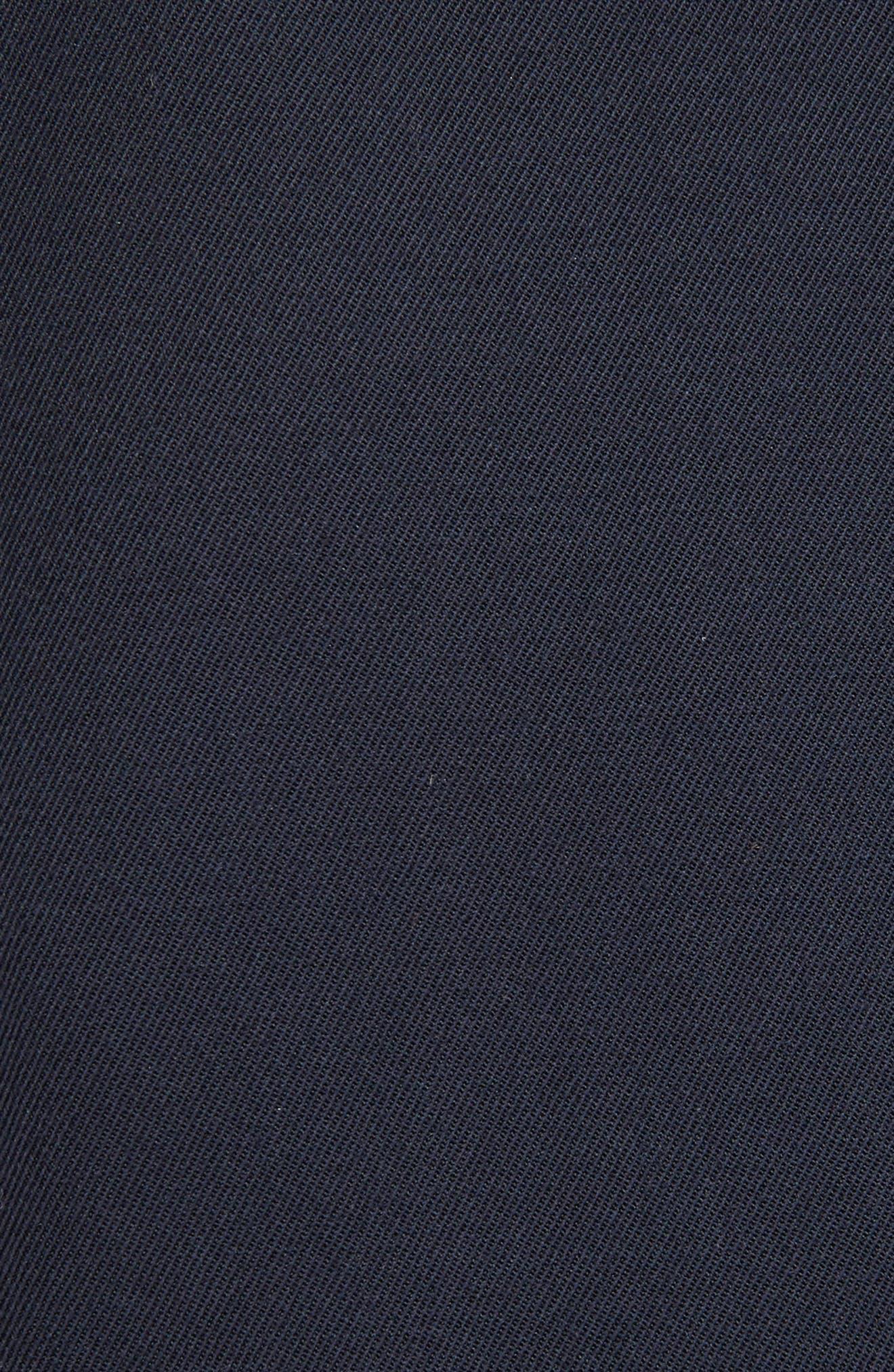 Lace Sleeve Wool Shift Dress,                             Alternate thumbnail 5, color,                             400