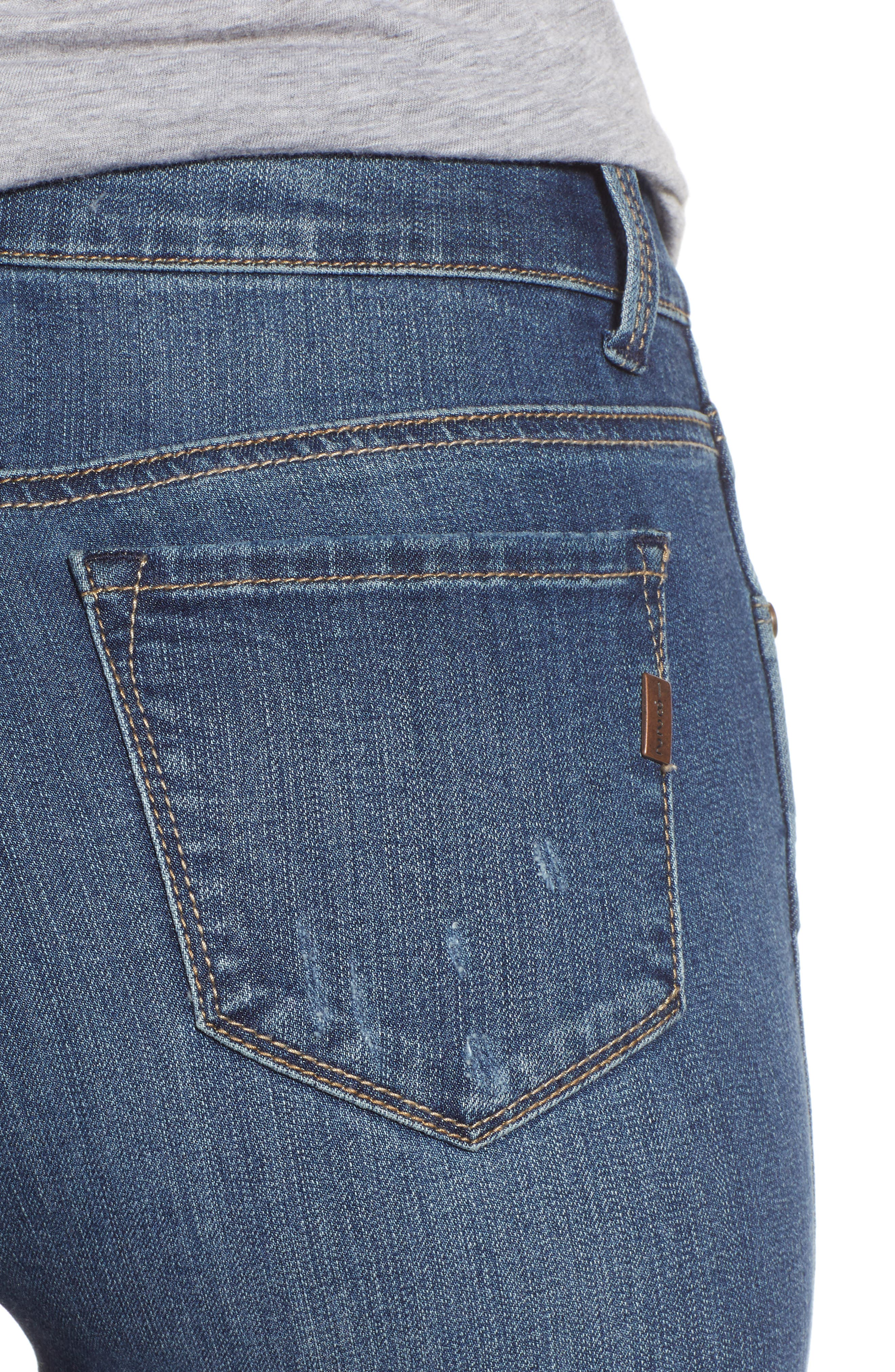 Distressed Skinny Jeans,                             Alternate thumbnail 4, color,                             SUBLIME
