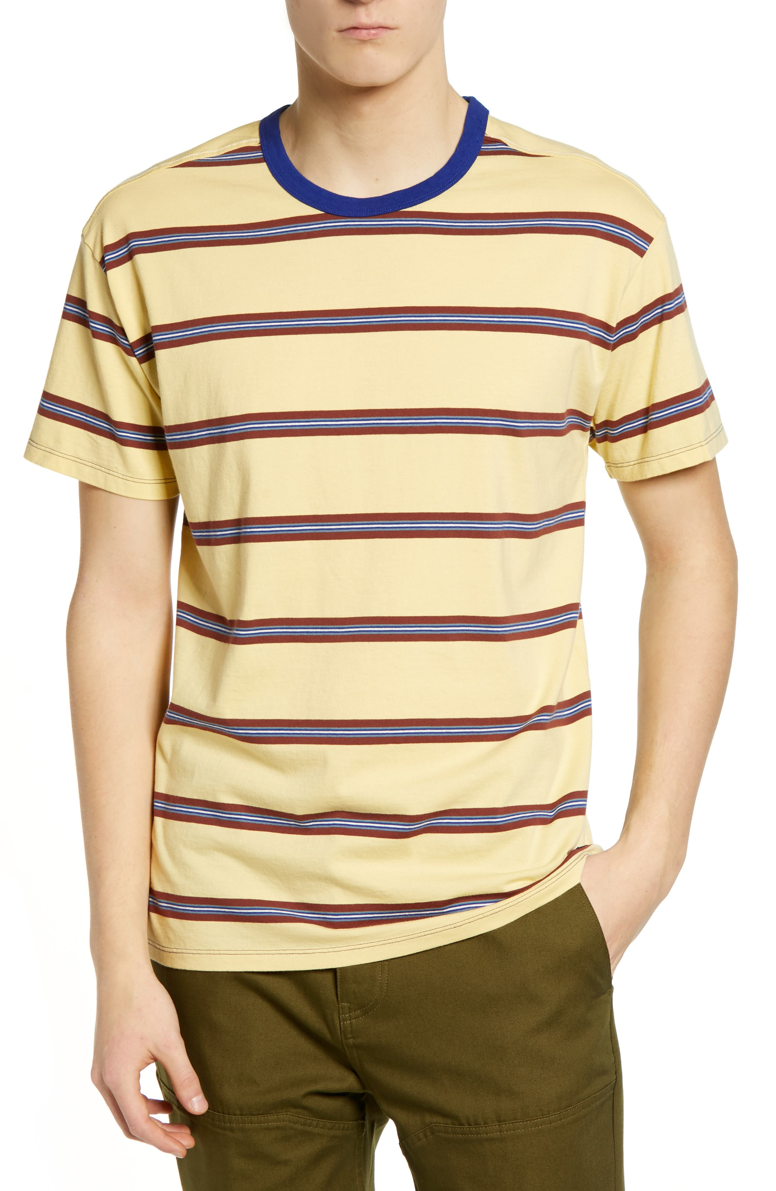 Hurley Salton Stripe T-Shirt, Yellow