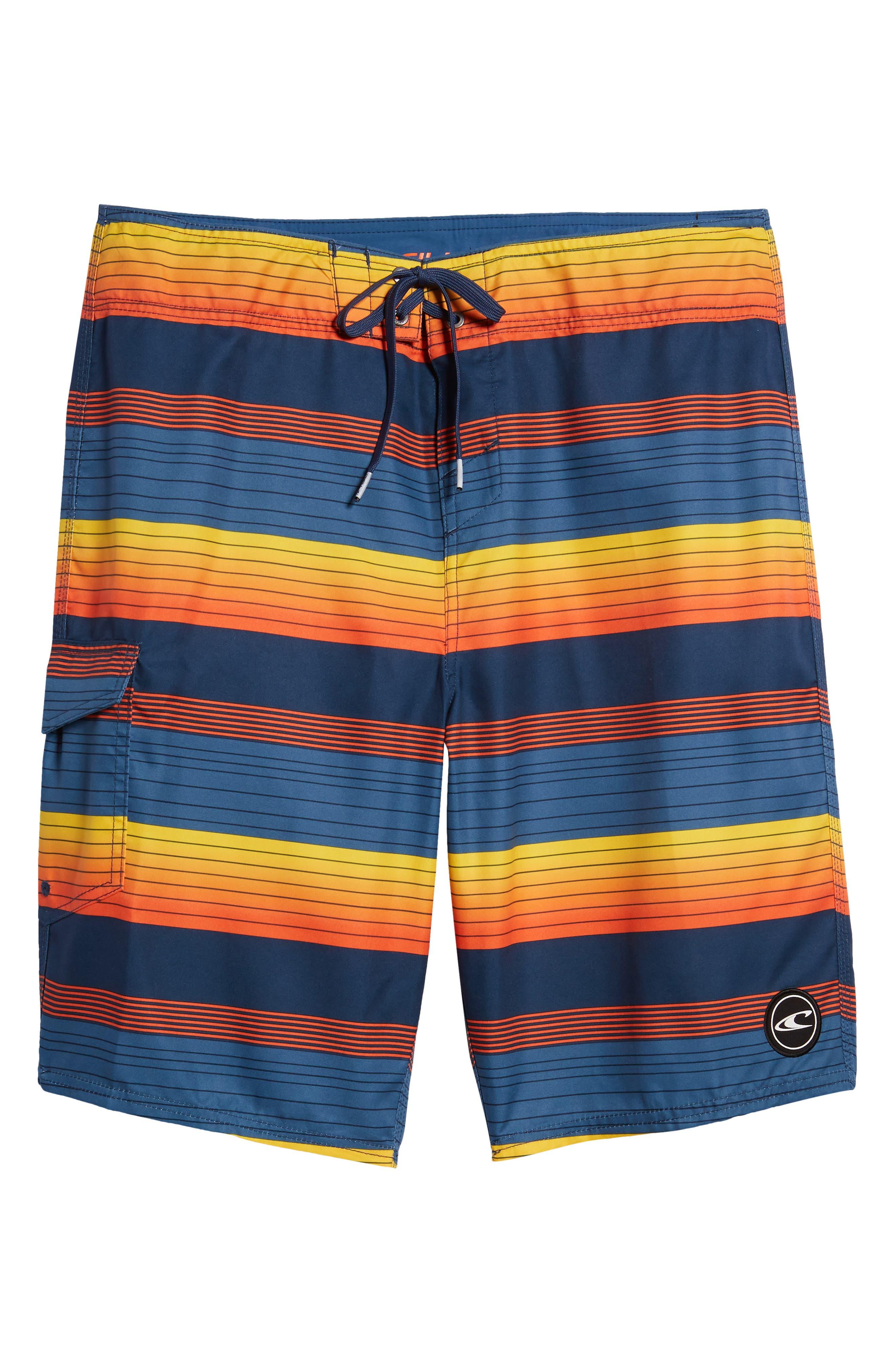 Santa Cruz Stripe Board Shorts,                             Alternate thumbnail 6, color,                             415