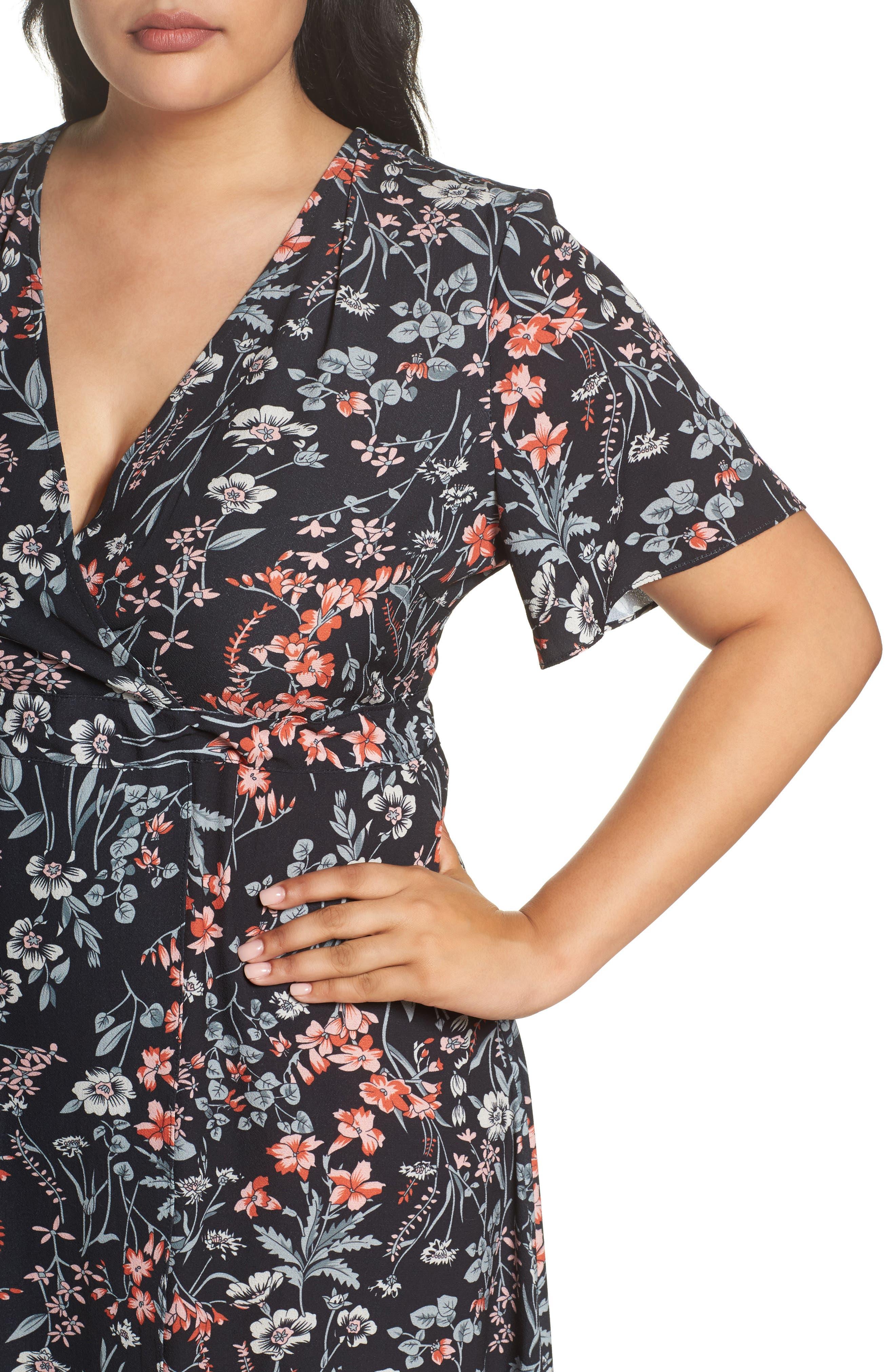 Print Maxi Dress,                             Alternate thumbnail 4, color,                             010