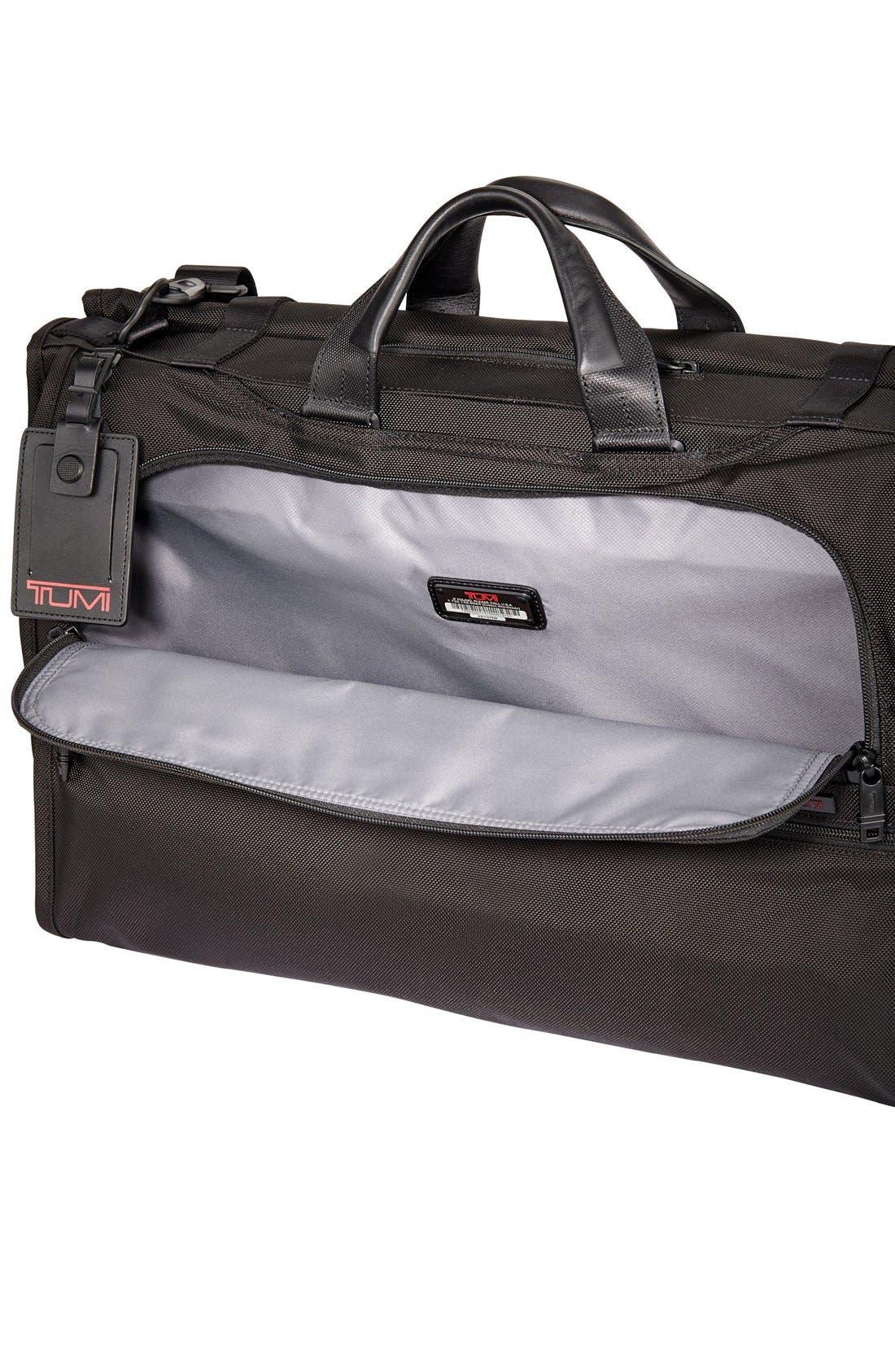 Alpha 2 22-Inch Trifold Carry-On Garment Bag,                             Alternate thumbnail 4, color,                             BLACK