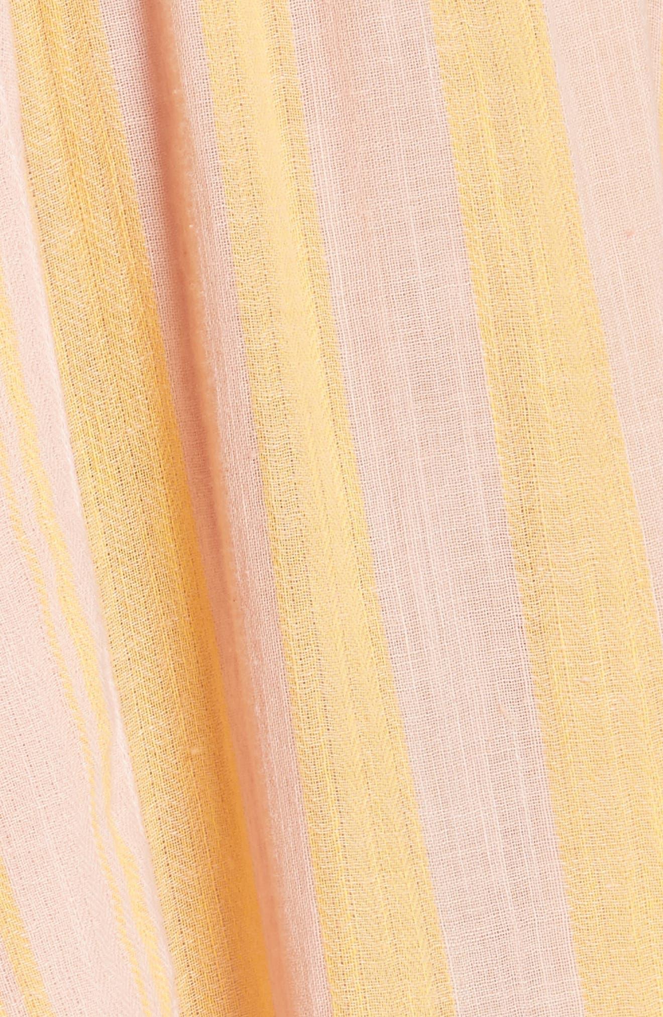 Stripe Me Up Strapless Midi Dress,                             Alternate thumbnail 12, color,