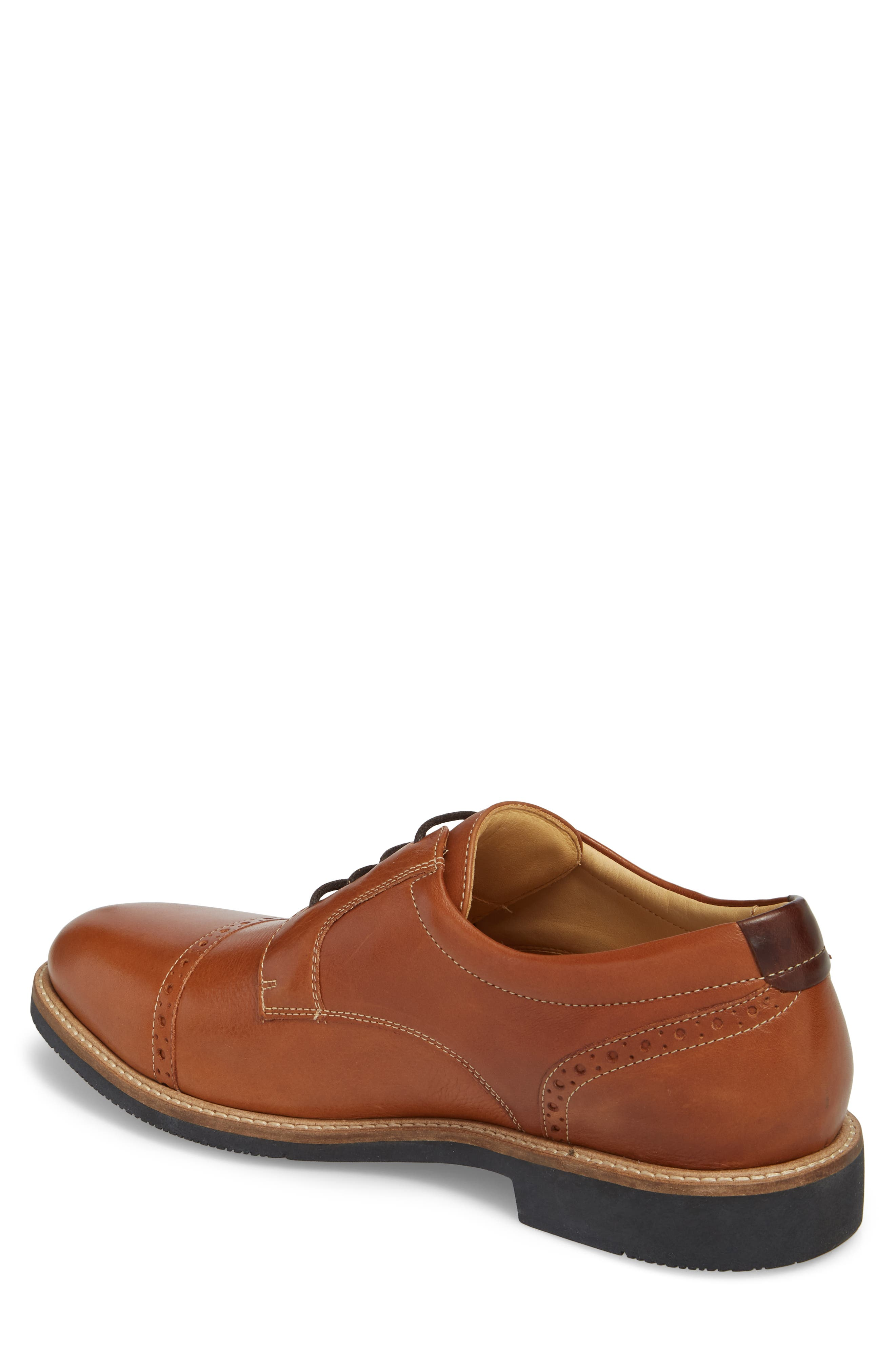 JOHNSTON & MURPHY,                             Barlow Cap Toe Derby,                             Alternate thumbnail 2, color,                             TAN LEATHER