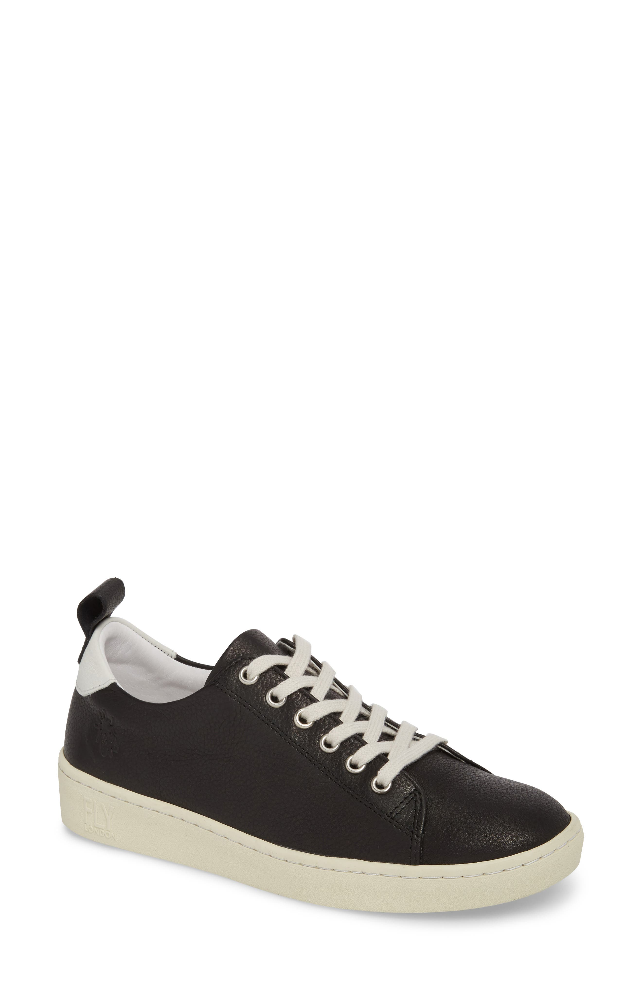 Maku Lace-Up Sneaker,                             Main thumbnail 1, color,                             BLACK BRITO LEATHER
