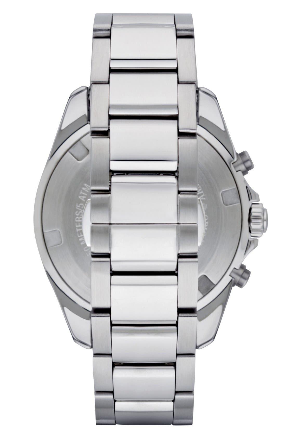 Chronograph Bracelet Watch, 44mm,                             Alternate thumbnail 2, color,                             SILVER/ BLACK