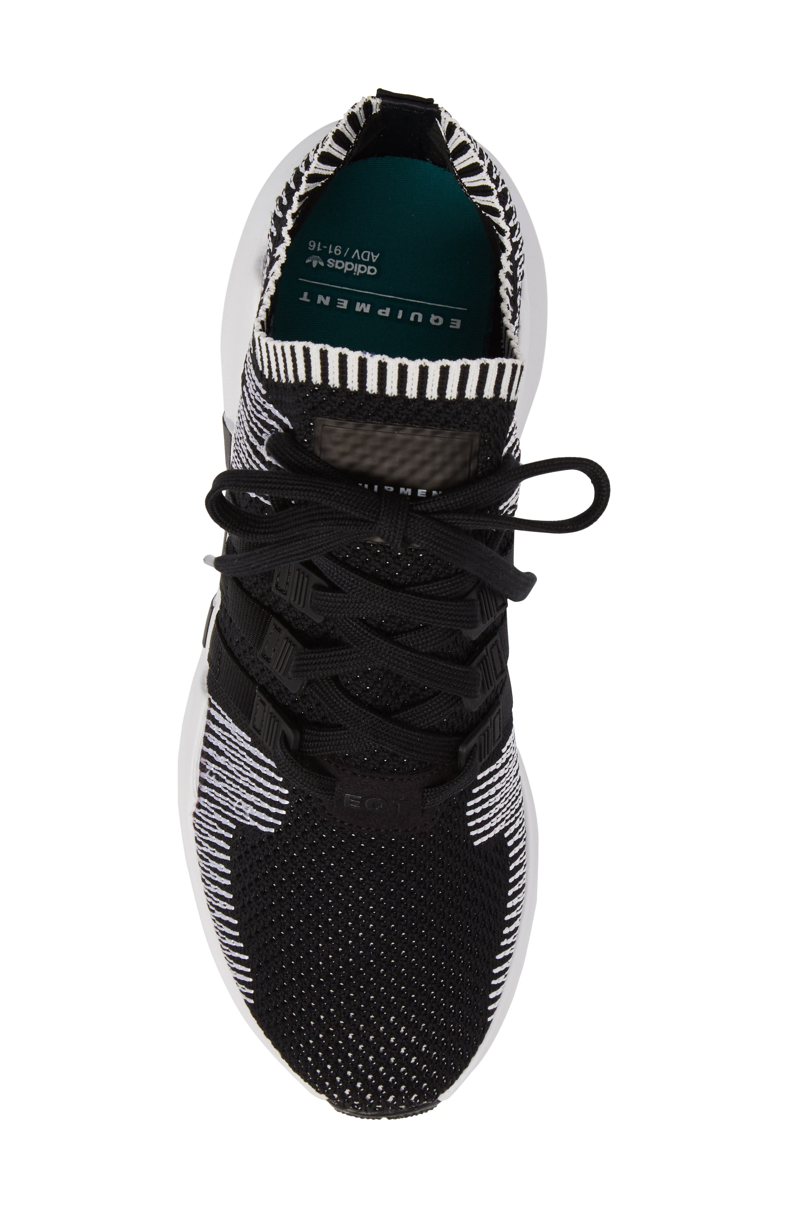 EQT Support ADV PrimeKnit Sneaker,                             Alternate thumbnail 5, color,                             001