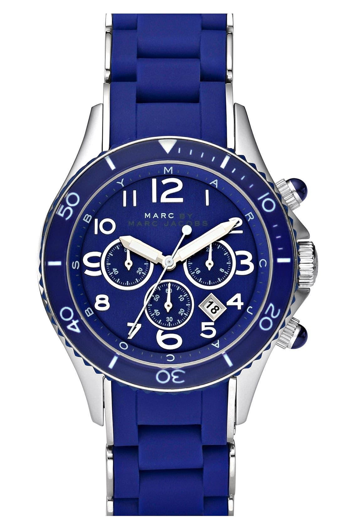 'Rock' Chronograph Silicone Bracelet Watch, 40mm,                             Main thumbnail 10, color,
