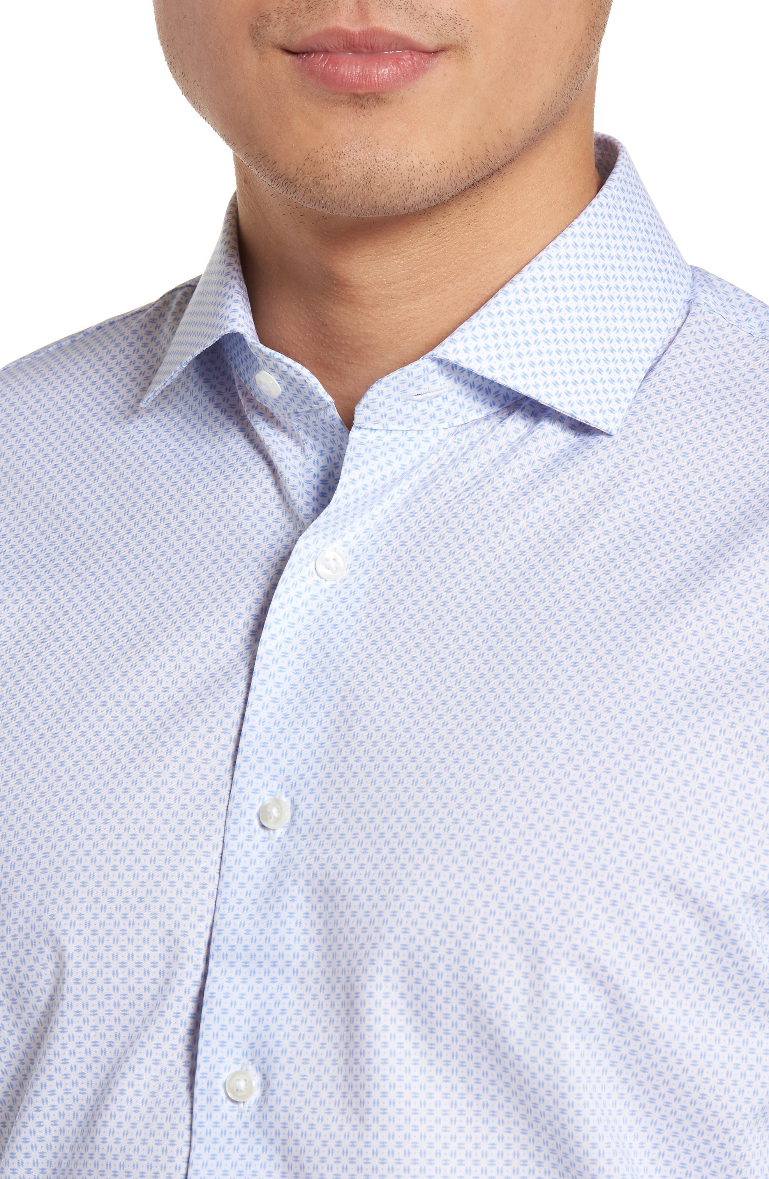 Trim Fit Dress Shirt,                             Alternate thumbnail 2, color,                             100