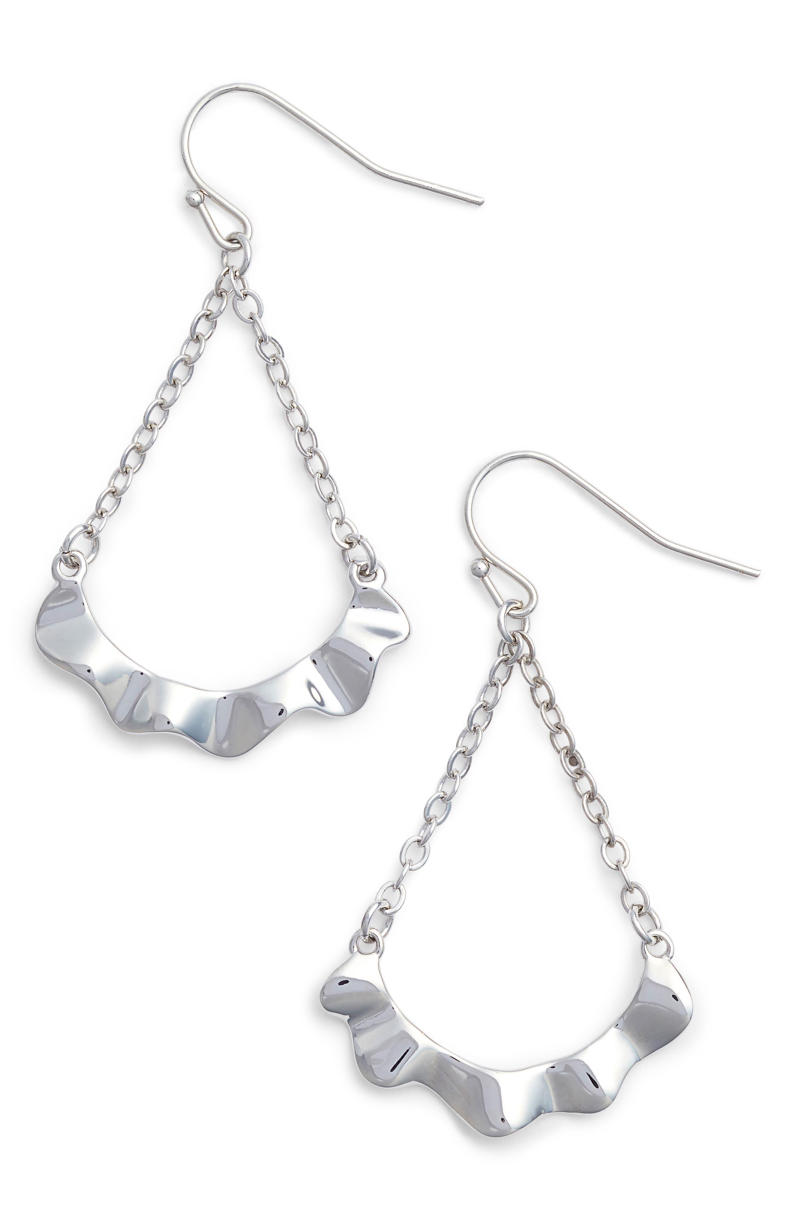 Waved Teardrop Earrings,                             Main thumbnail 1, color,                             040