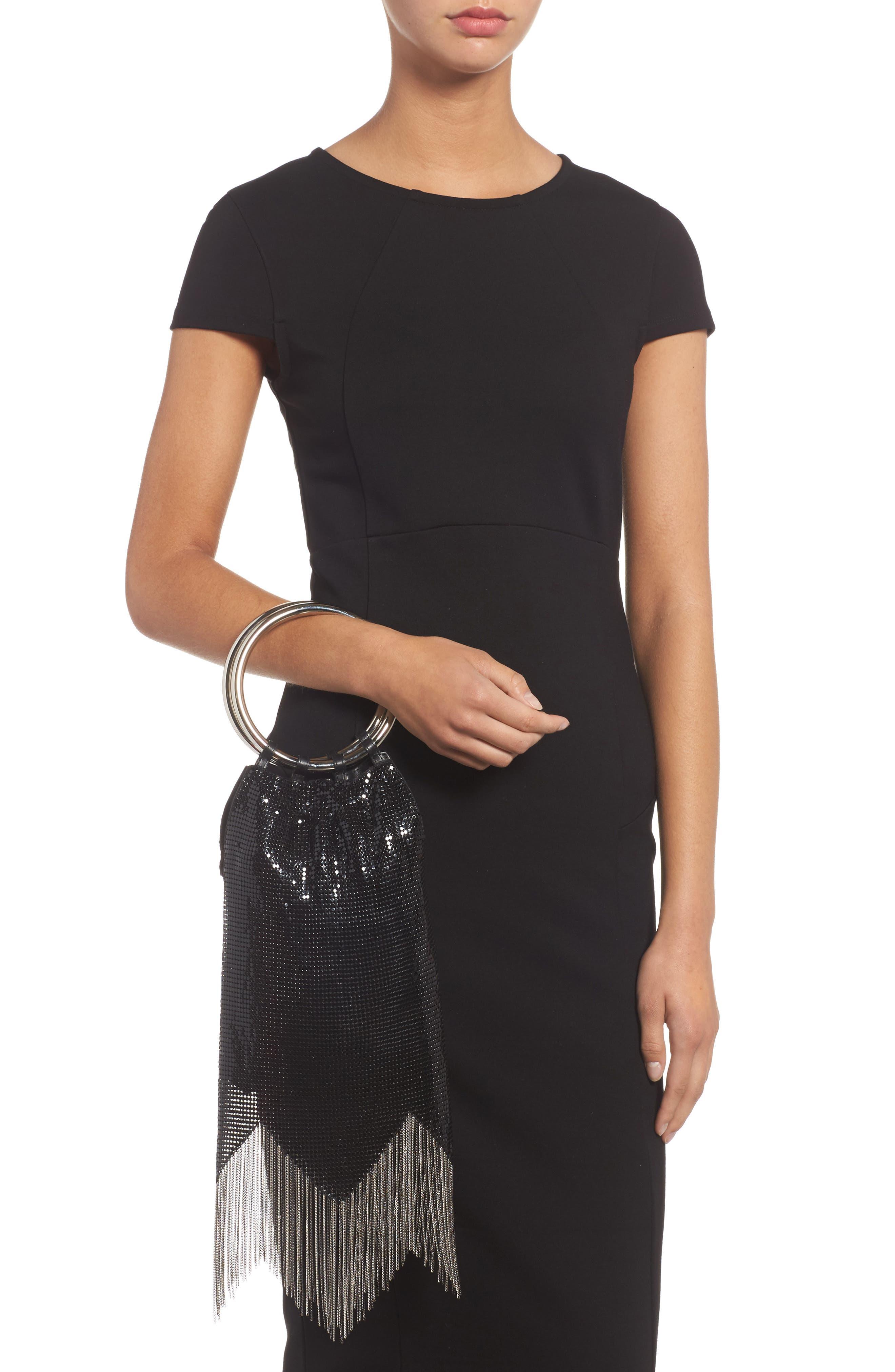 Rio Mesh Bracelet Bag,                             Alternate thumbnail 2, color,                             BLACK