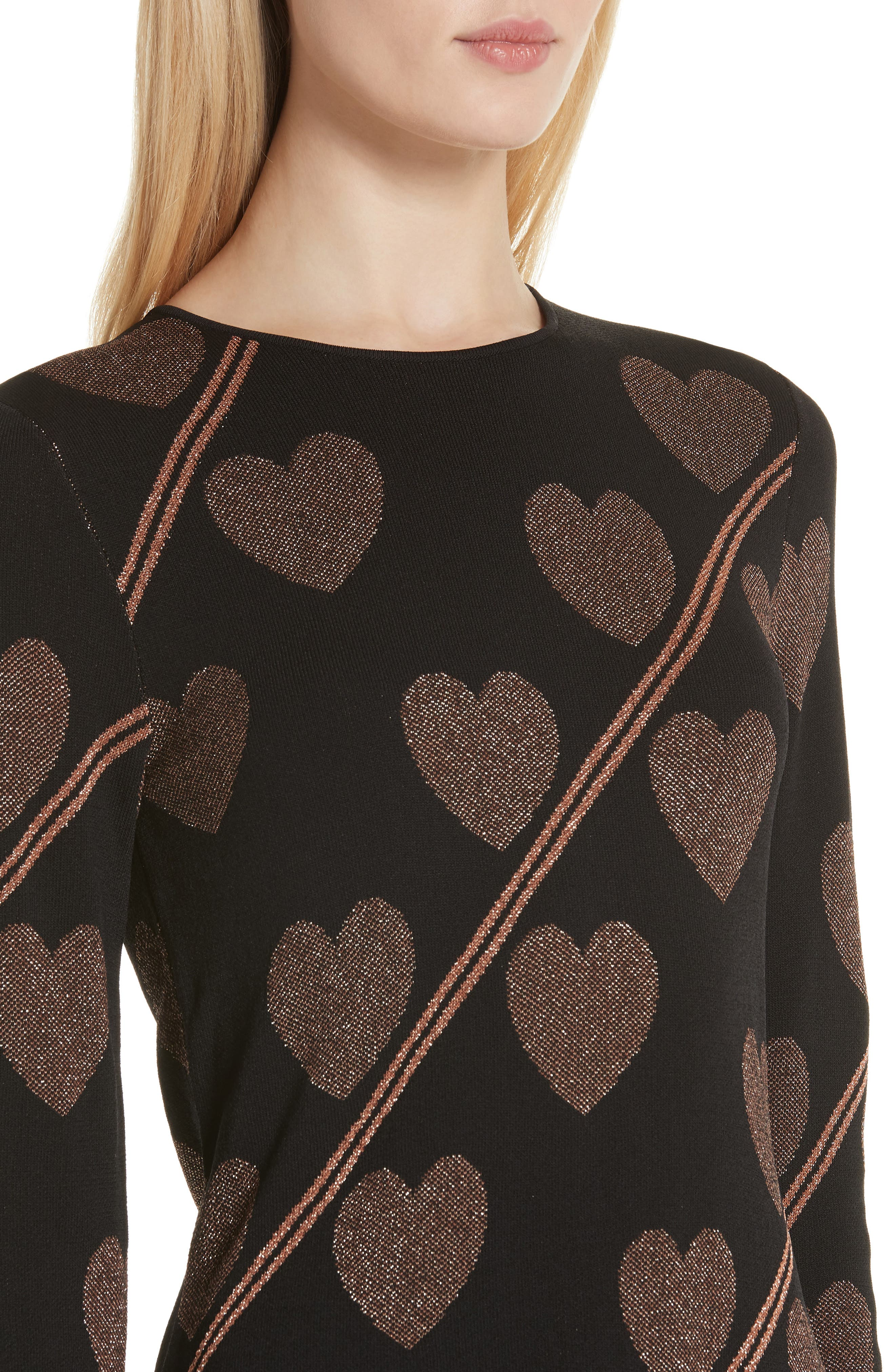 Uzeniaa Joyous Sweater Dress,                             Alternate thumbnail 4, color,                             BLACK