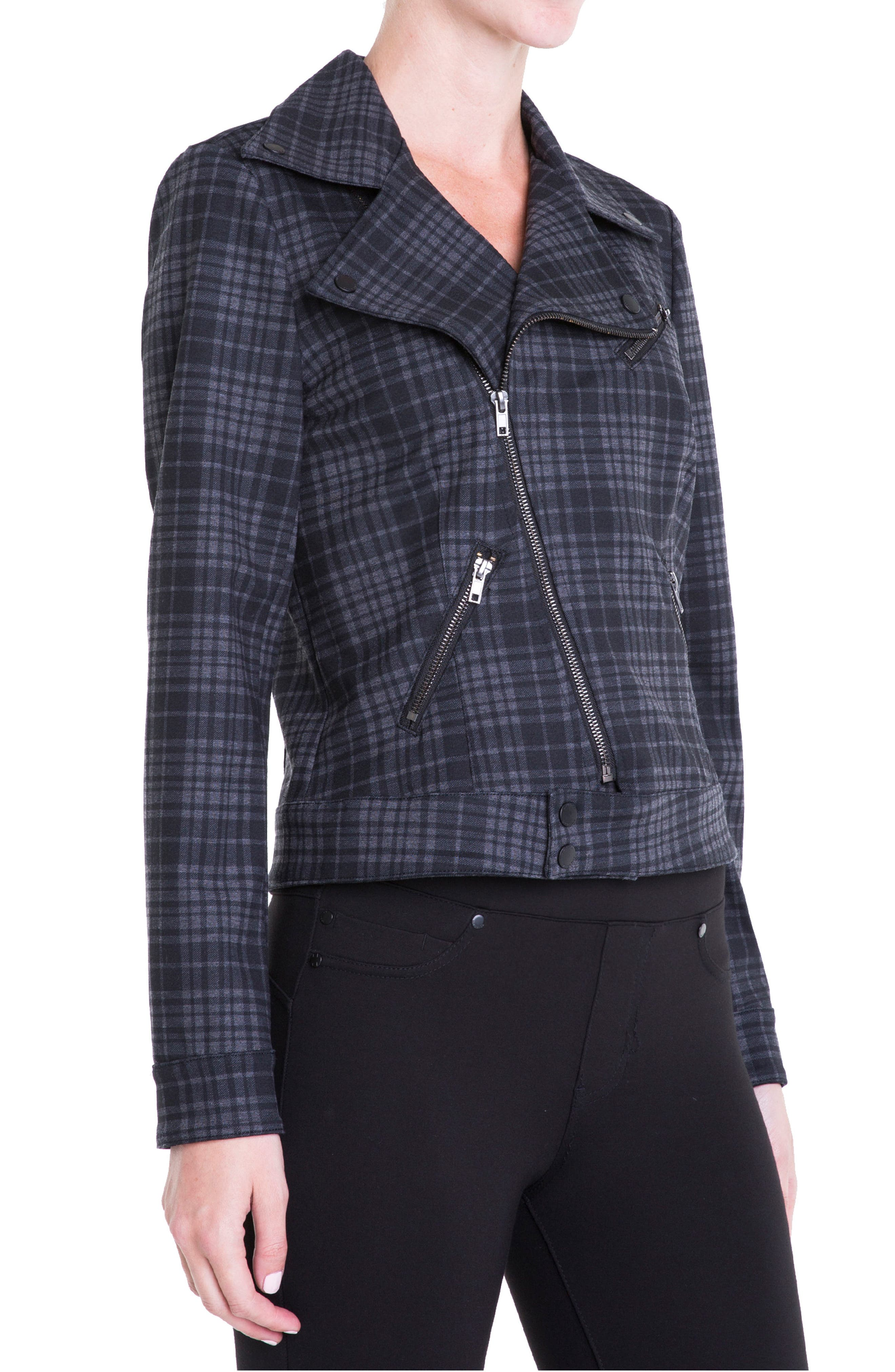 Plaid Moto Jacket,                             Alternate thumbnail 2, color,                             020
