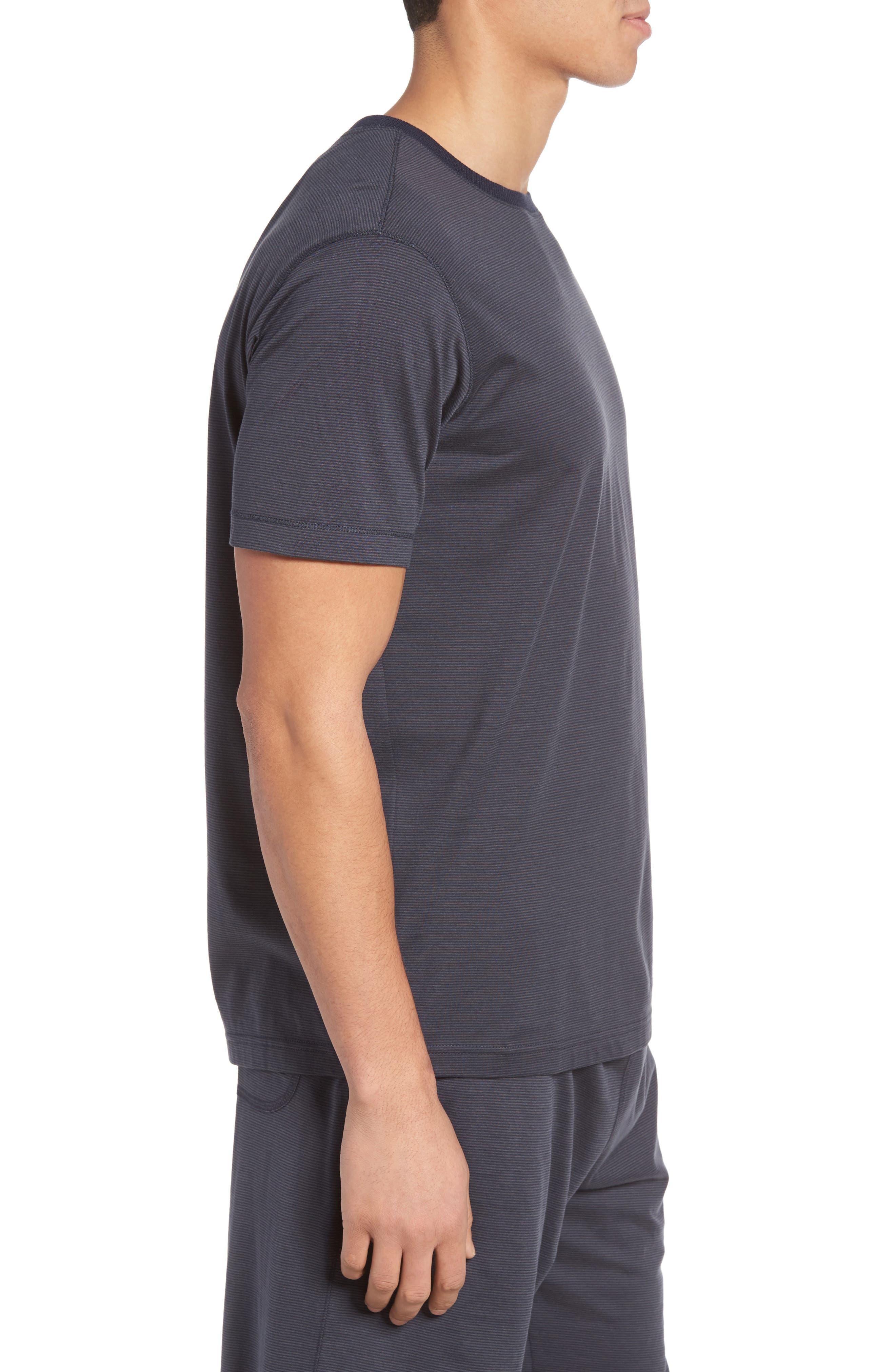Silk & Cotton Crewneck T-Shirt,                             Alternate thumbnail 3, color,                             068