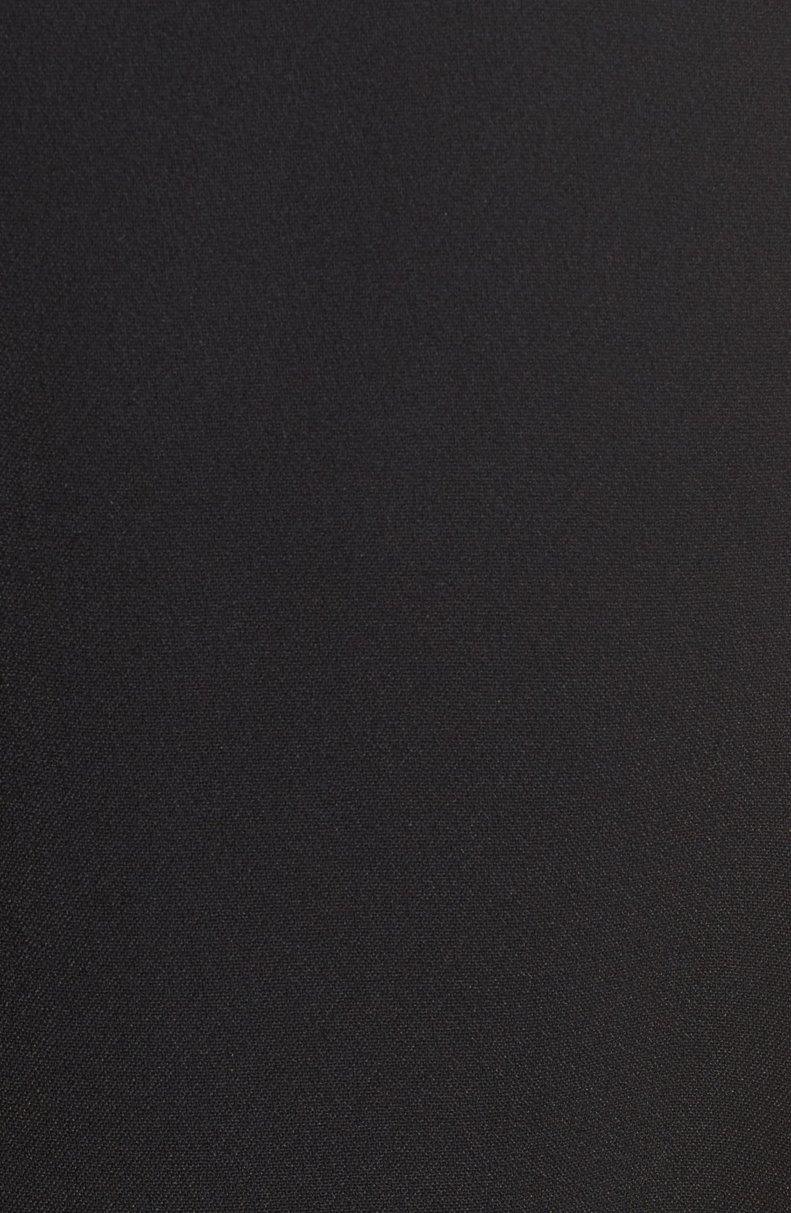 Leather Fringe Wrap Dress,                             Alternate thumbnail 5, color,                             001