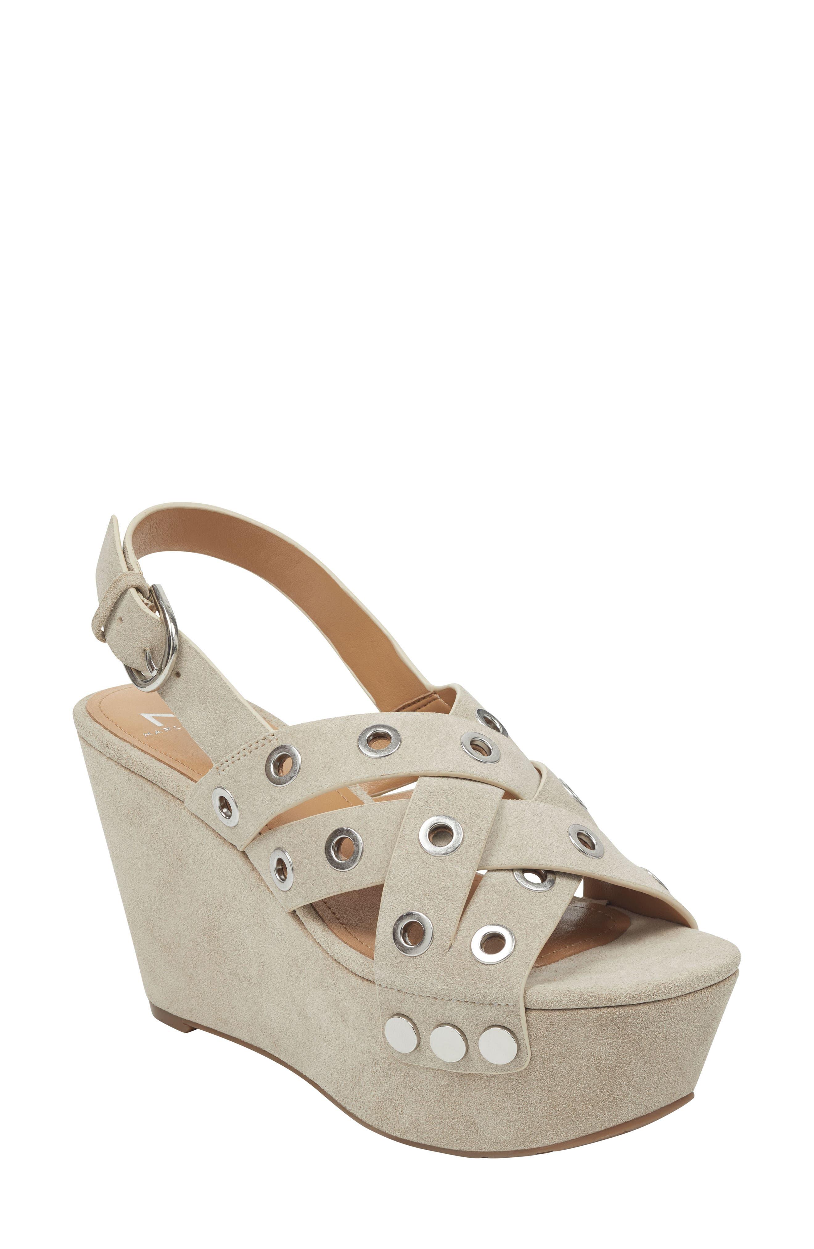 Marc Fisher Ltd Bloom Platform Sandal, Beige