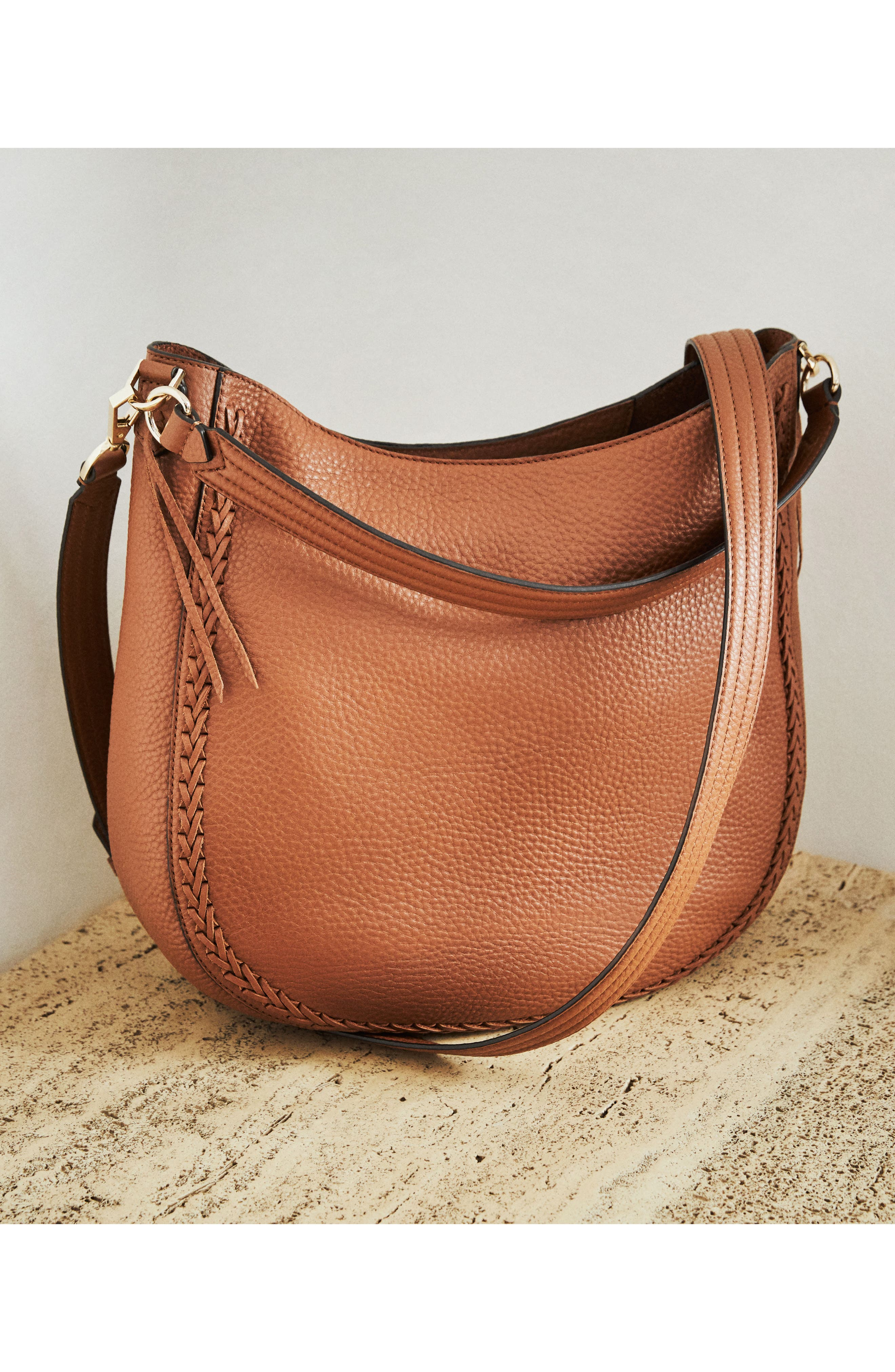 Unlined Convertible Whipstitch Hobo,                             Alternate thumbnail 11, color,