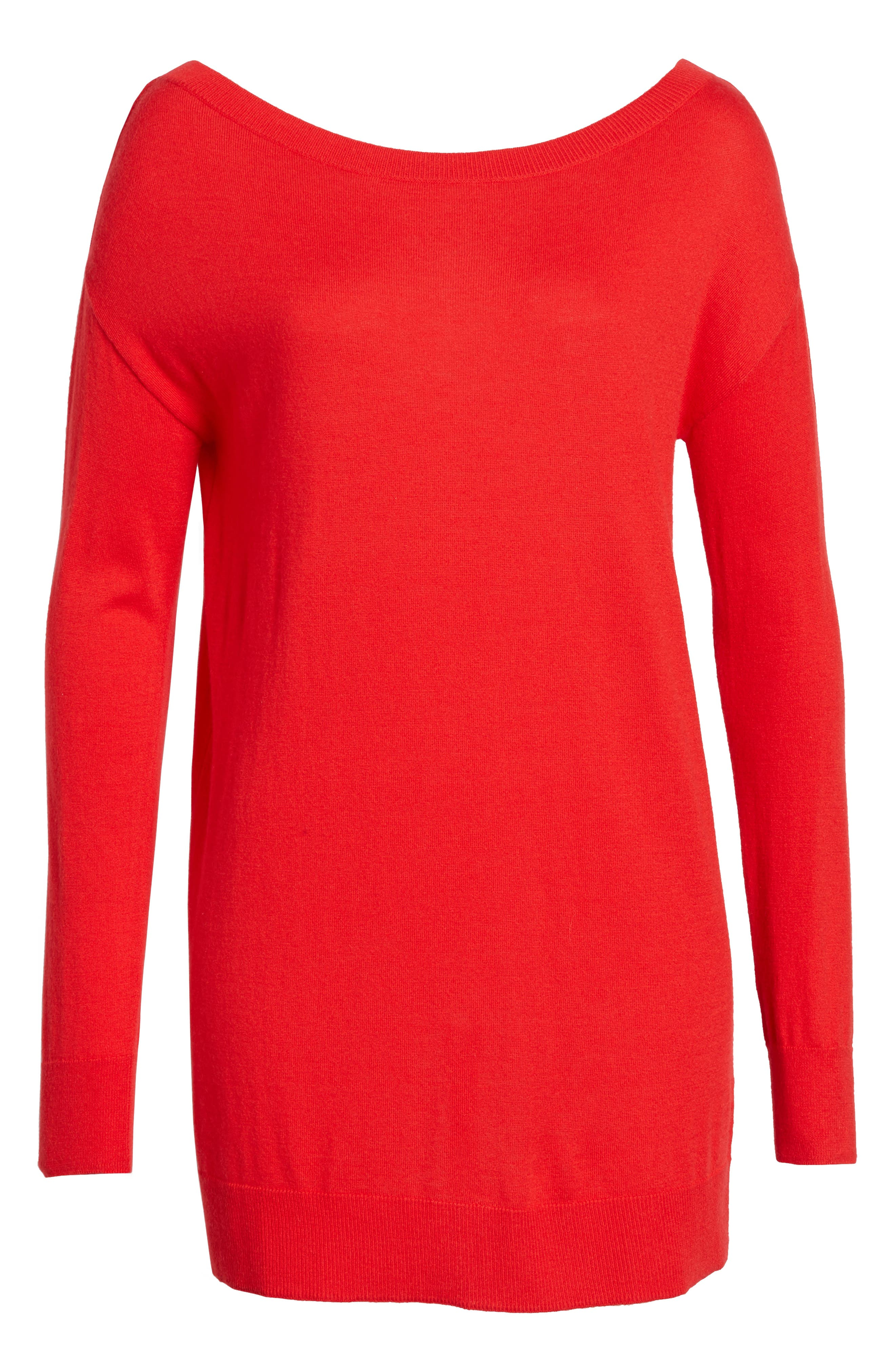 Boatneck Tunic Sweater,                             Alternate thumbnail 34, color,