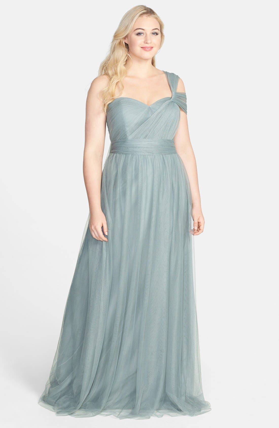 Annabelle Convertible Tulle Column Dress,                             Alternate thumbnail 190, color,