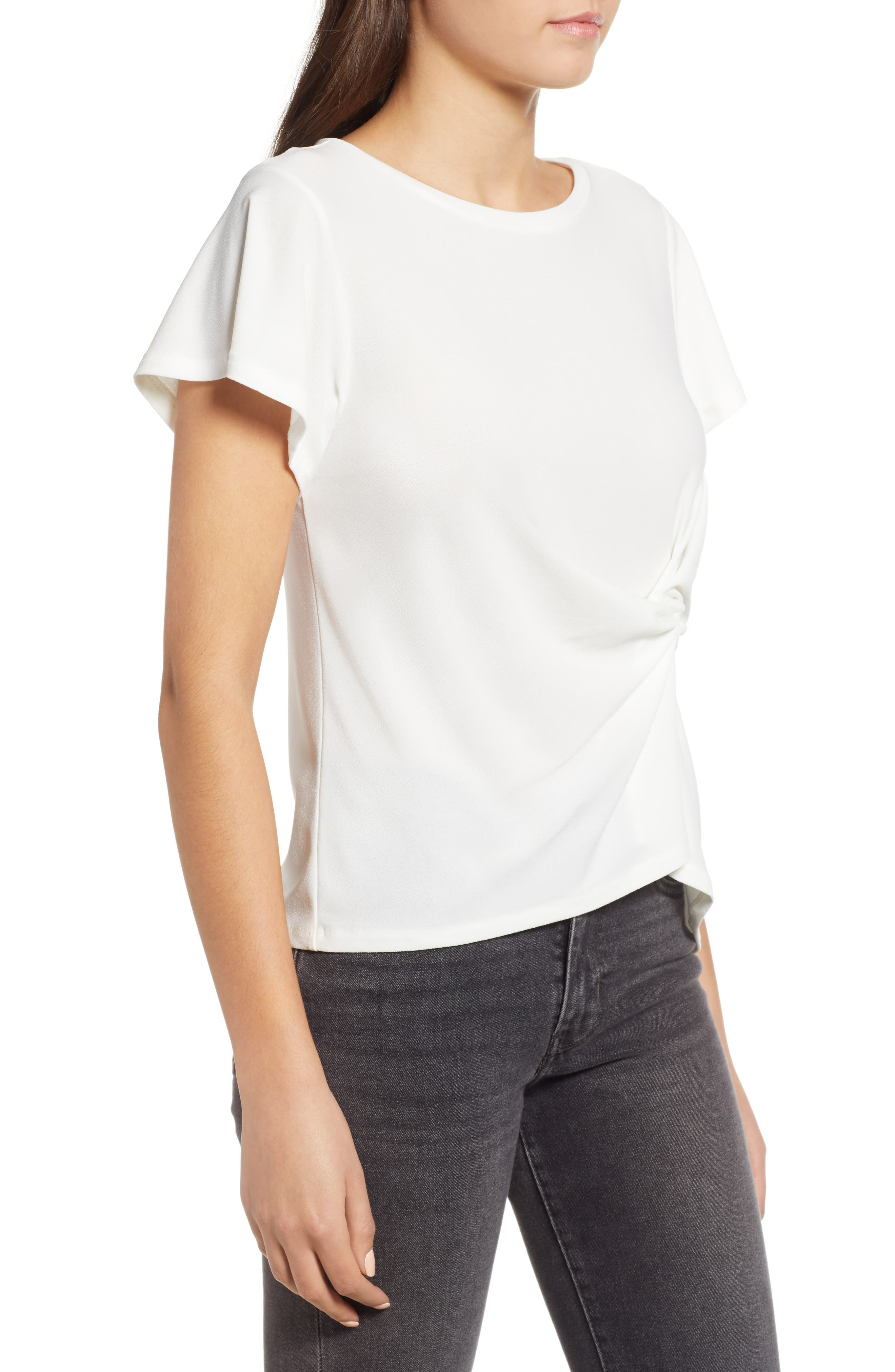 Side Knot Tee,                             Alternate thumbnail 3, color,                             900