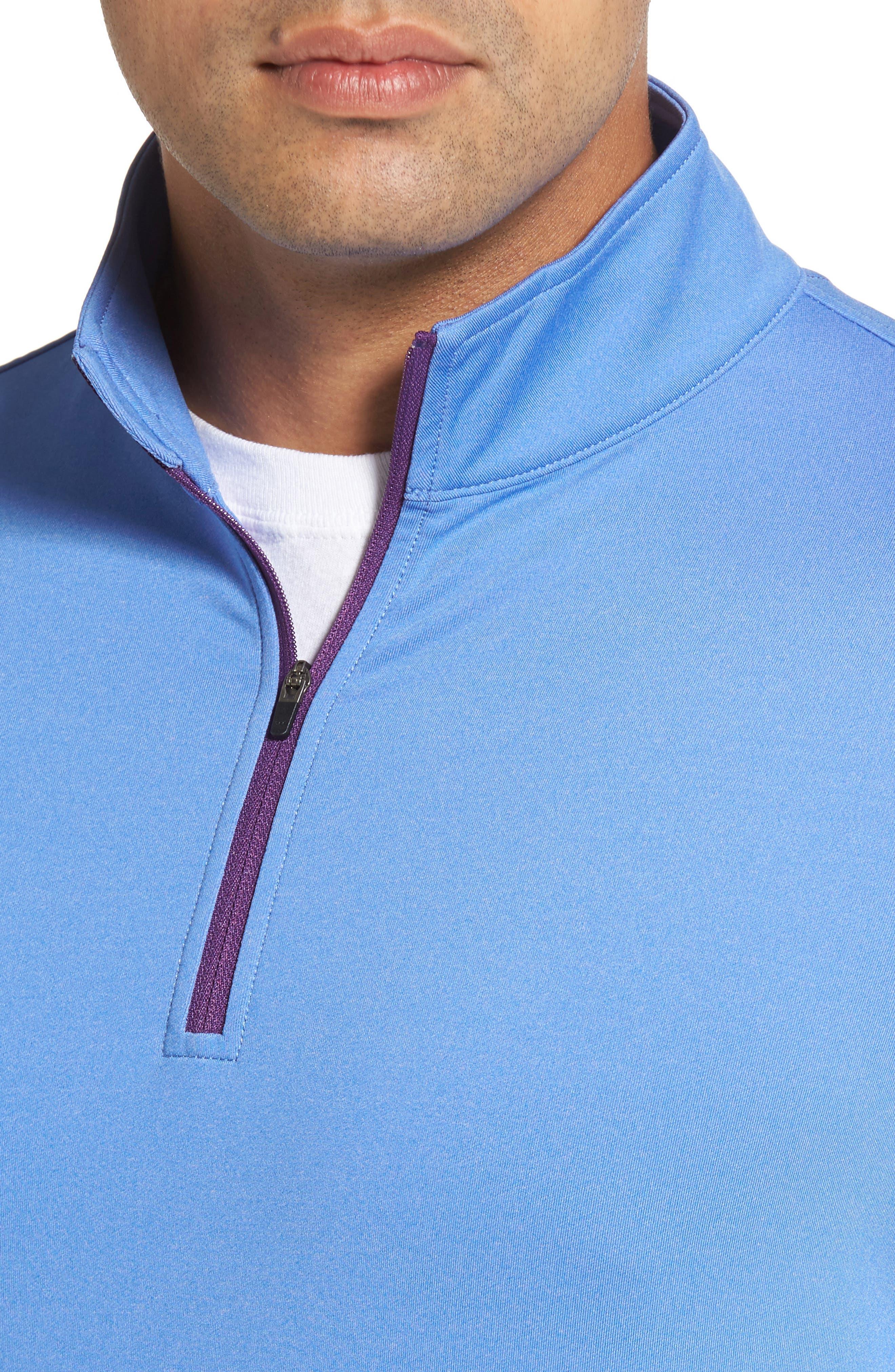 Perth Quarter Zip Stretch Pullover,                             Alternate thumbnail 18, color,