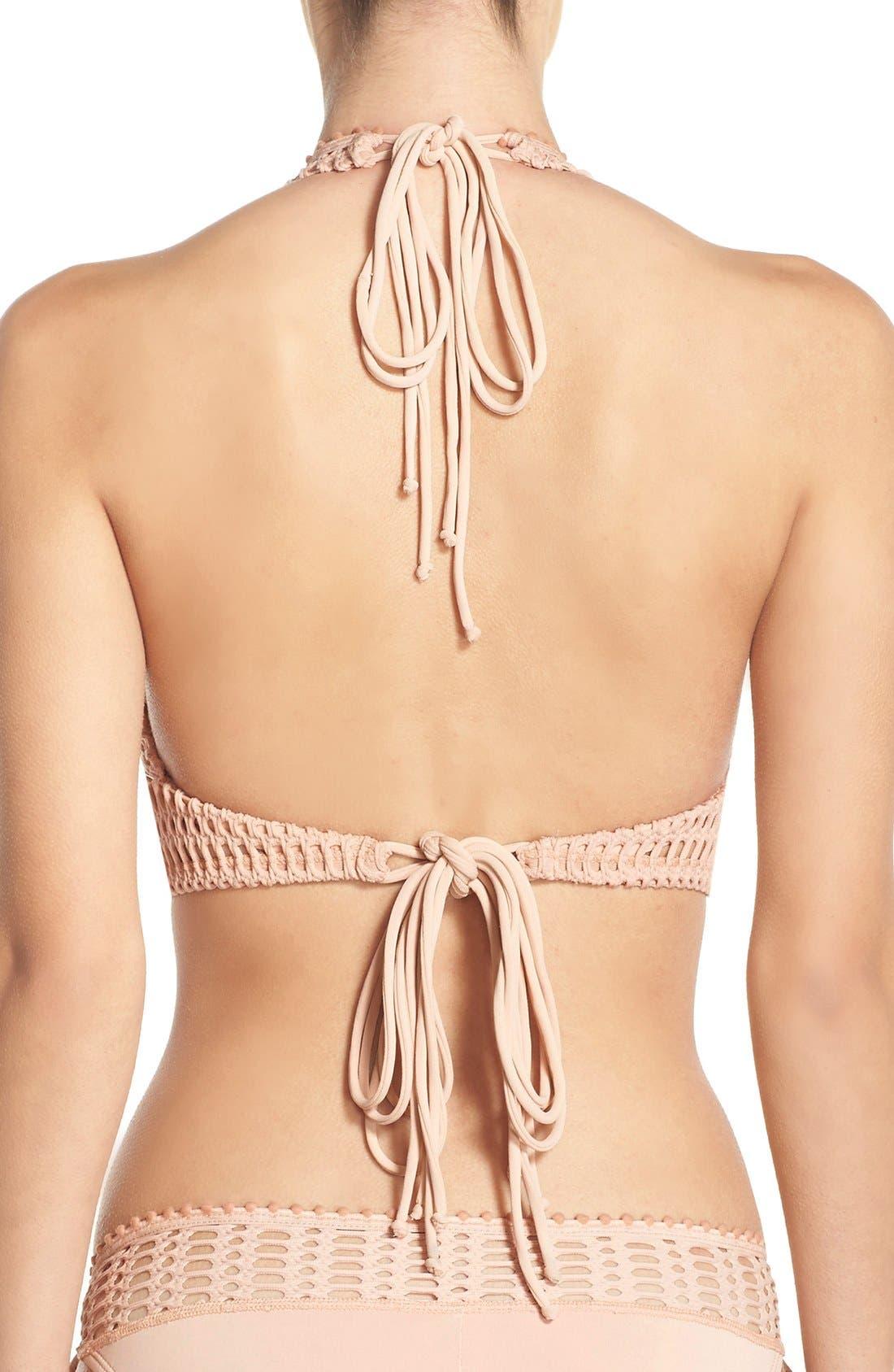 'Sophia' Crochet Halter Bikini Top,                             Alternate thumbnail 9, color,